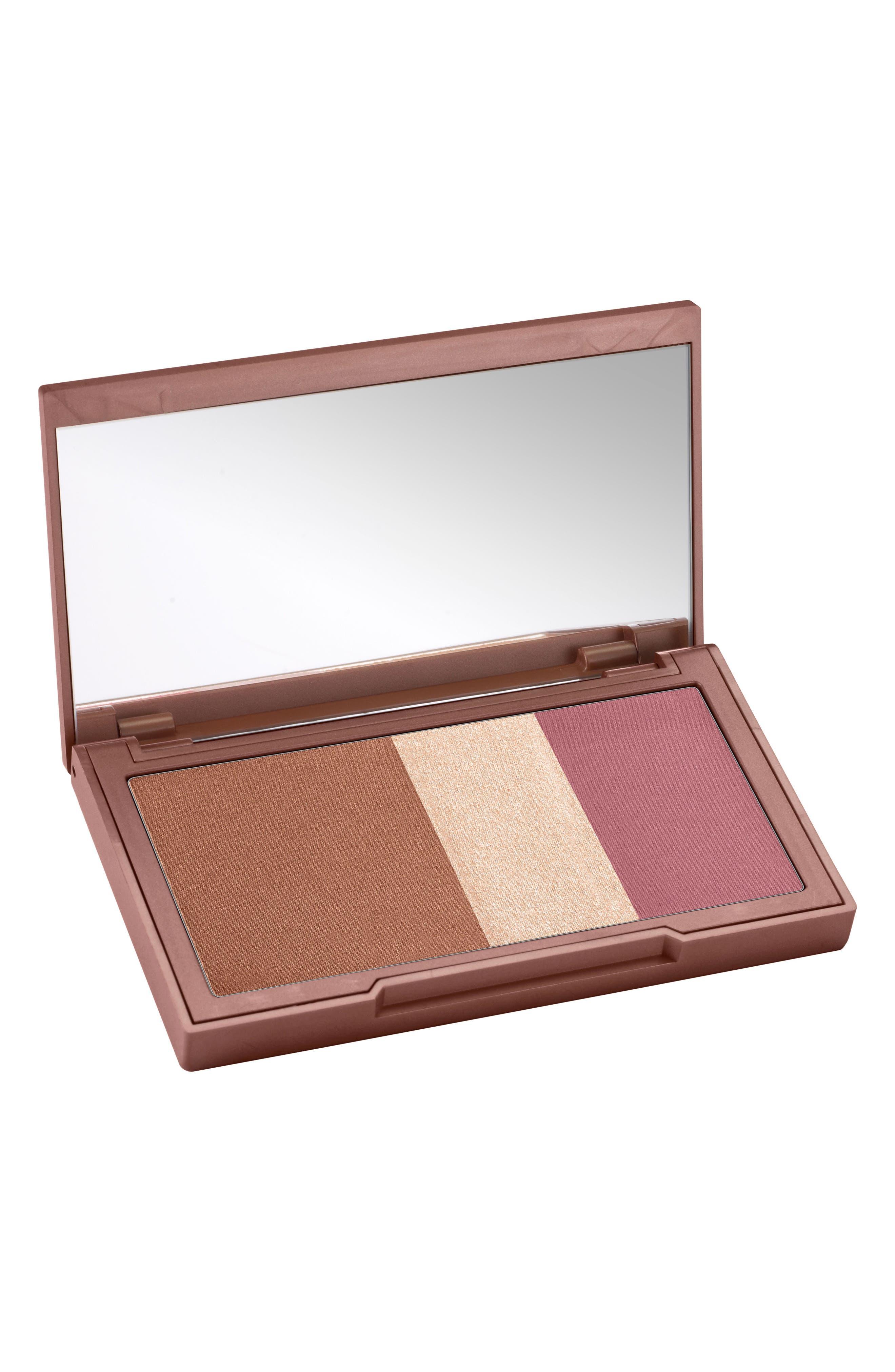 Naked Flushed Bronzer, Highlighter & Blush Palette,                             Main thumbnail 1, color,                             SESSO