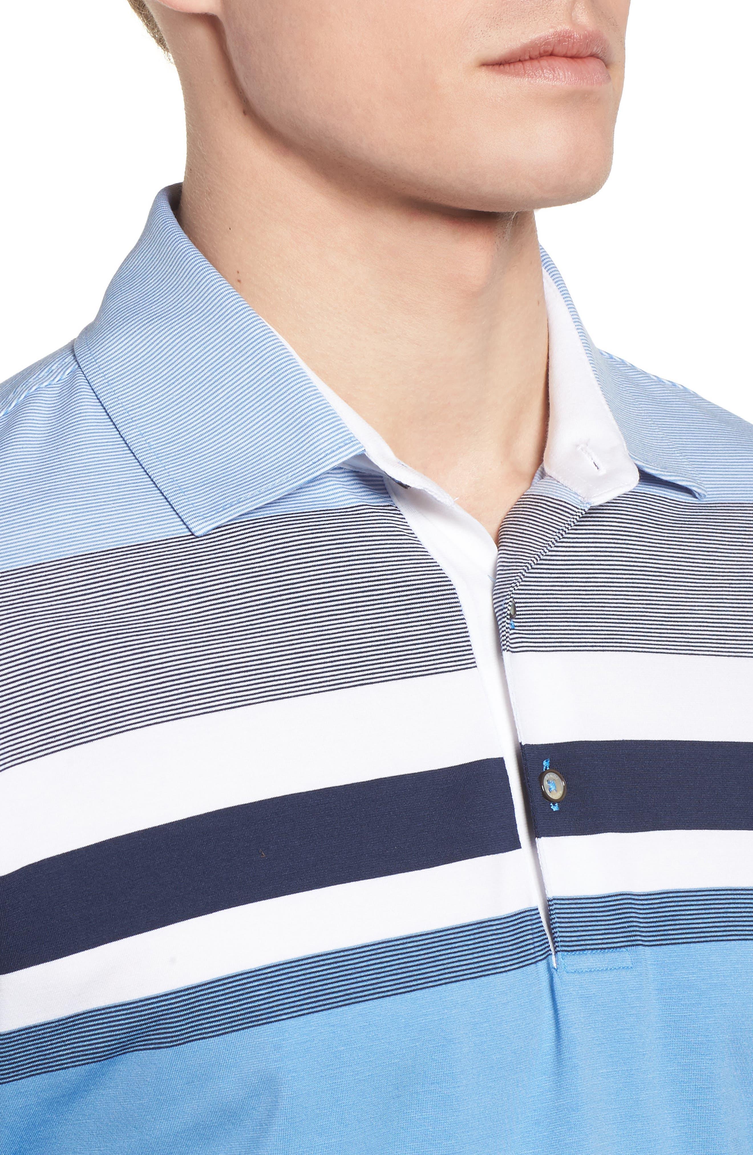 Horizon Stripe Polo,                             Alternate thumbnail 7, color,