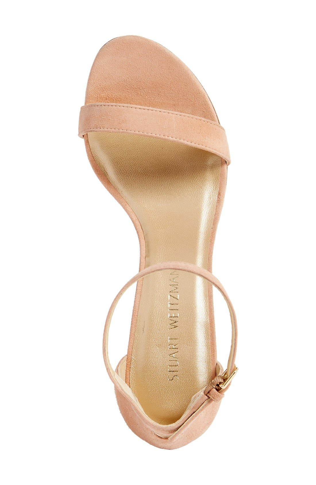 NearlyNude Ankle Strap Sandal,                             Alternate thumbnail 45, color,