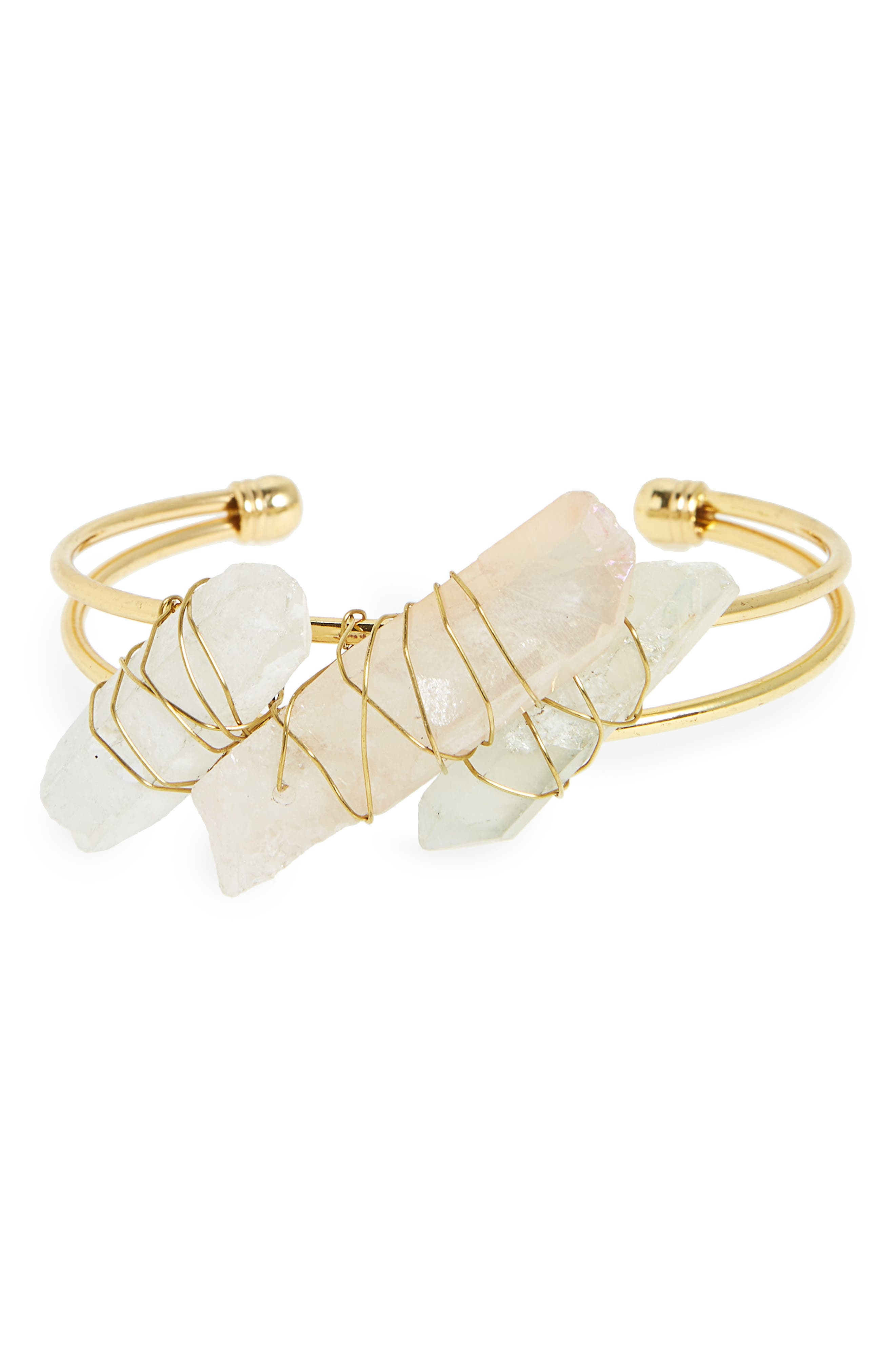 Pyrite Cuff Bracelet,                         Main,                         color,