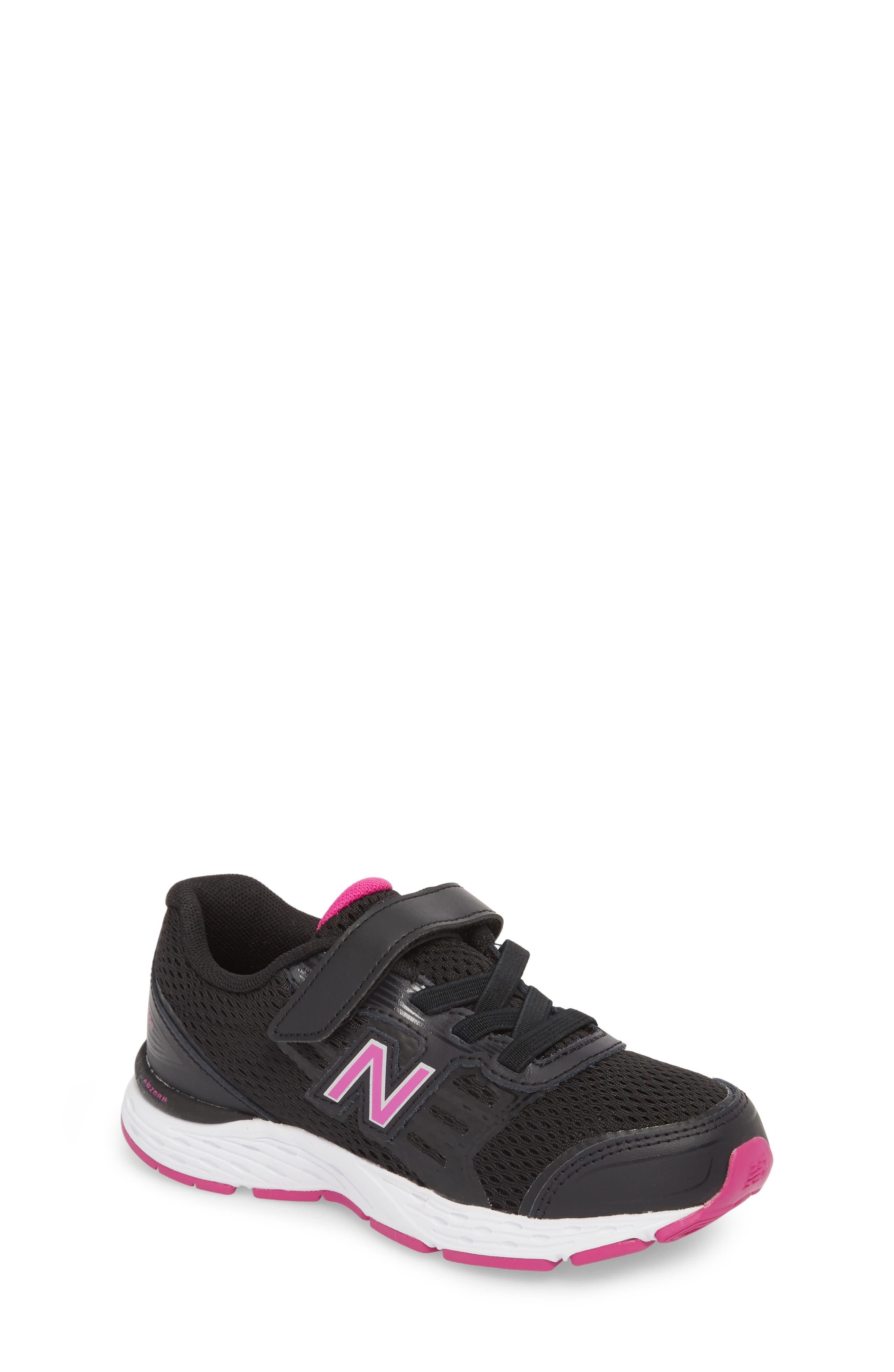 680v5 Sneaker,                         Main,                         color, BLACK/ AZALEA