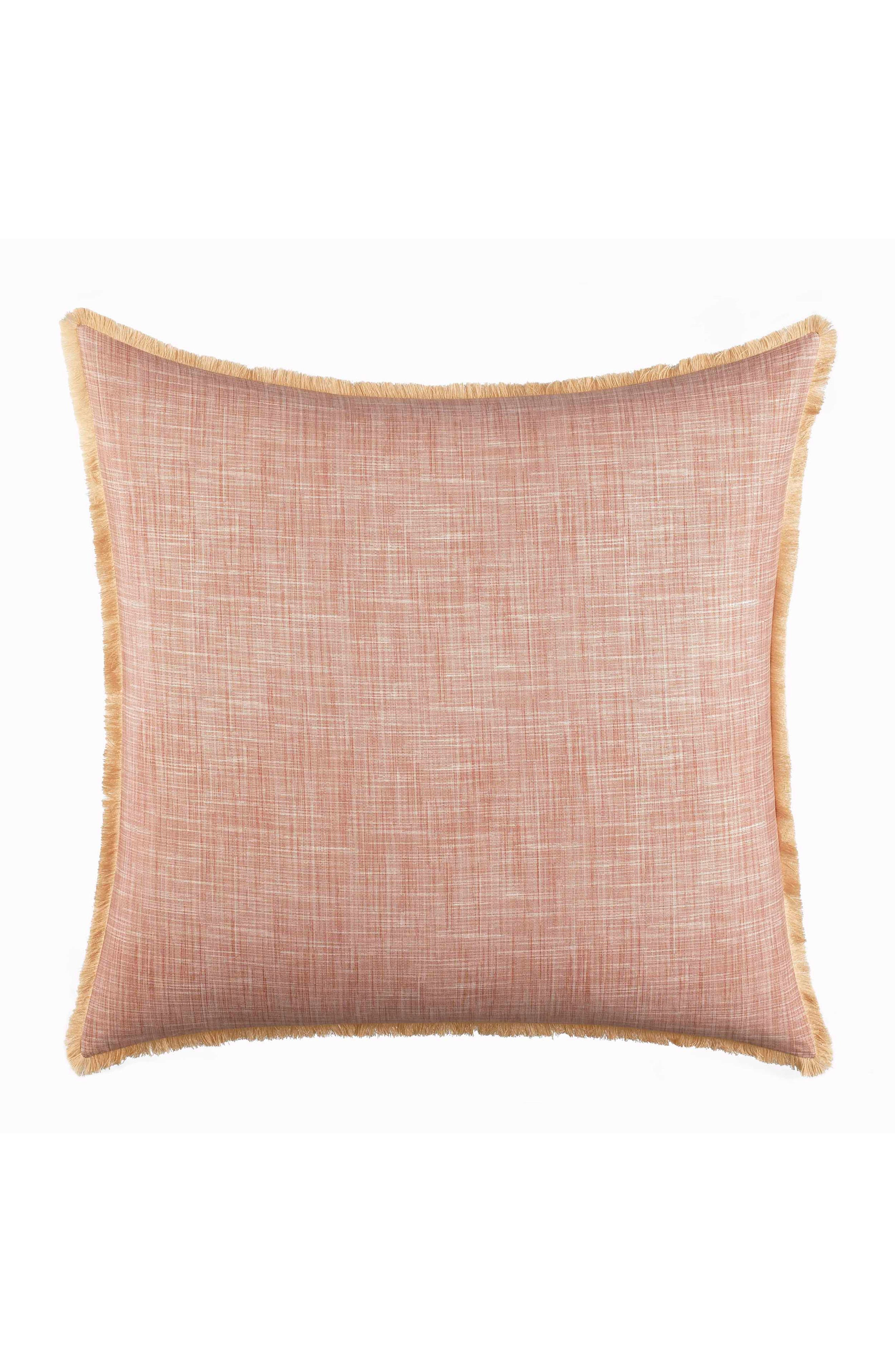 TOMMY BAHAMA,                             Sunset Stripe Euro Pillow Sham,                             Main thumbnail 1, color,                             BURNT CORAL