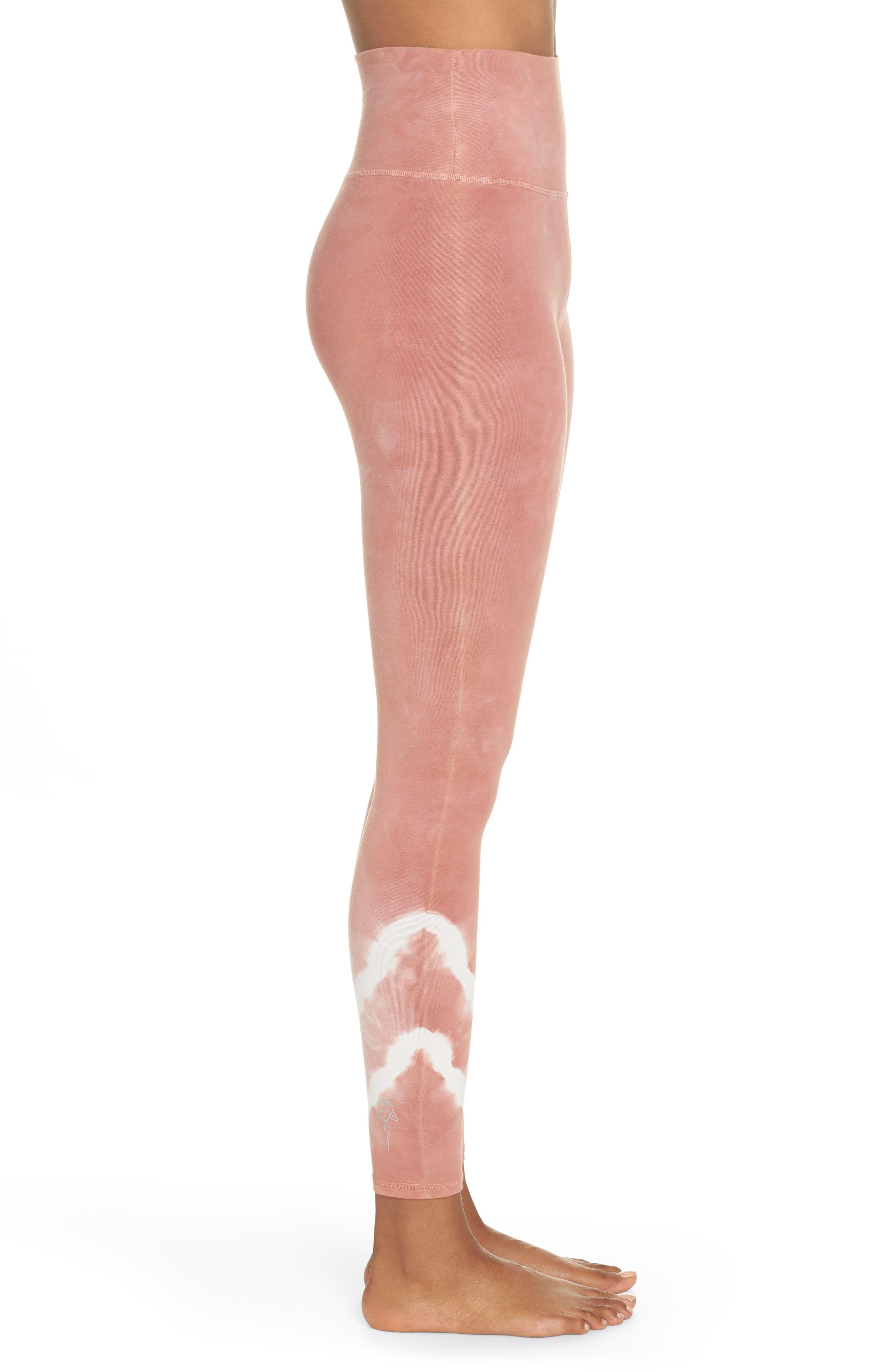 Sunset Tie Dye Leggings,                             Alternate thumbnail 3, color,                             LADY / MOON