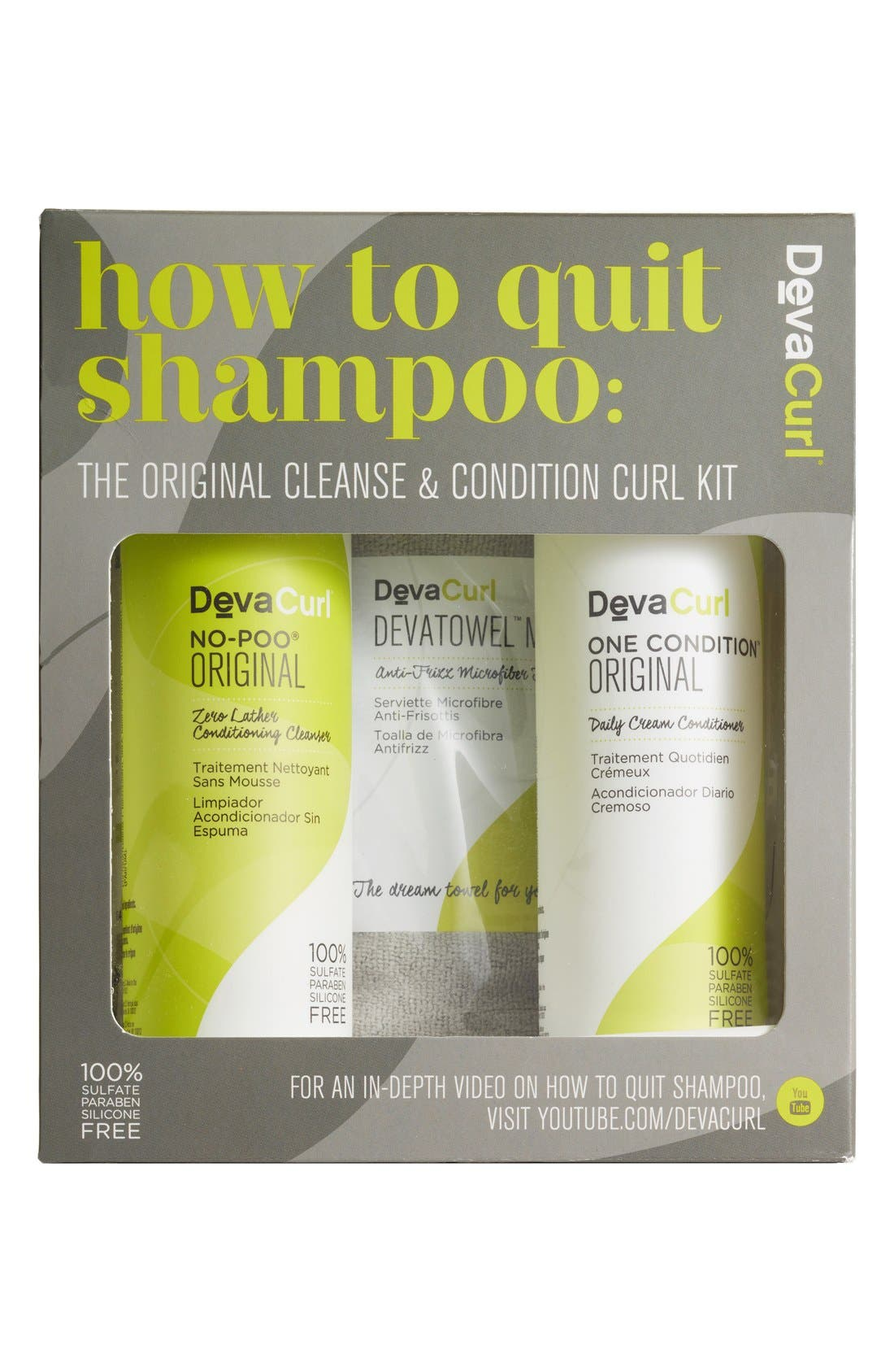 DEVACURL,                             How to Quit Shampoo The Cleanse & Condition Curl Kit,                             Main thumbnail 1, color,                             NO COLOR
