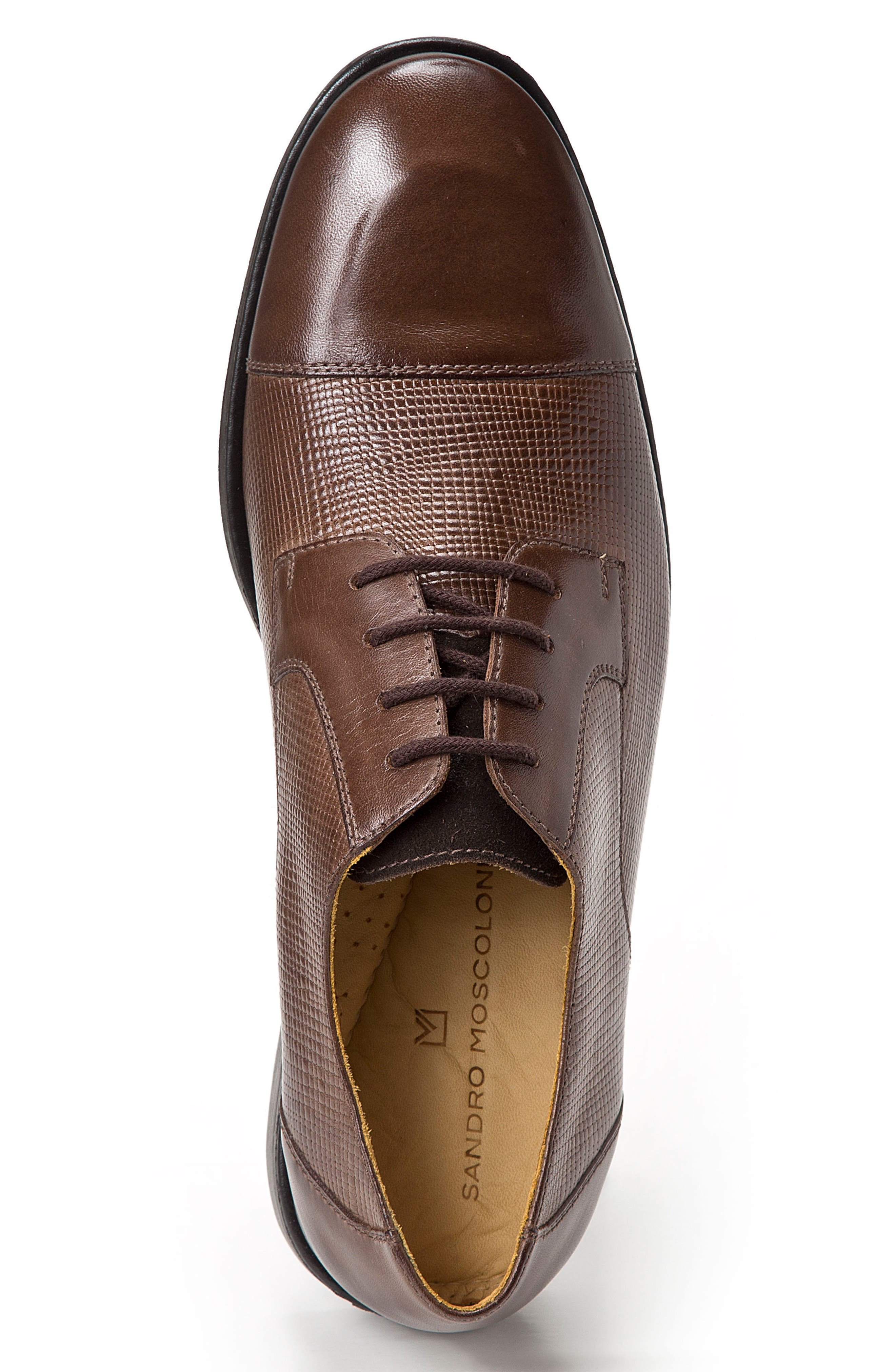 Ronny Embossed Cap Toe Derby,                             Alternate thumbnail 6, color,