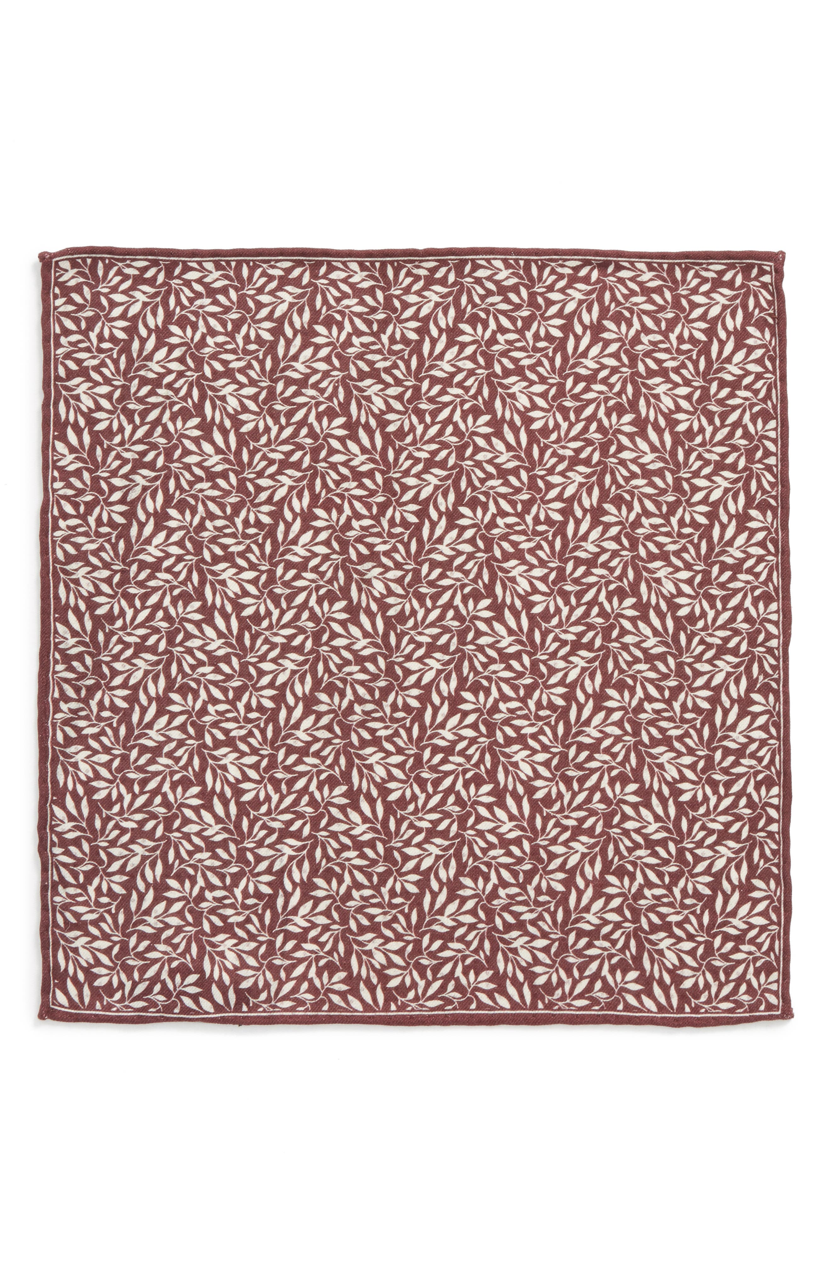 Reversible Domino Sprout Silk Pocket Square,                             Alternate thumbnail 2, color,                             930