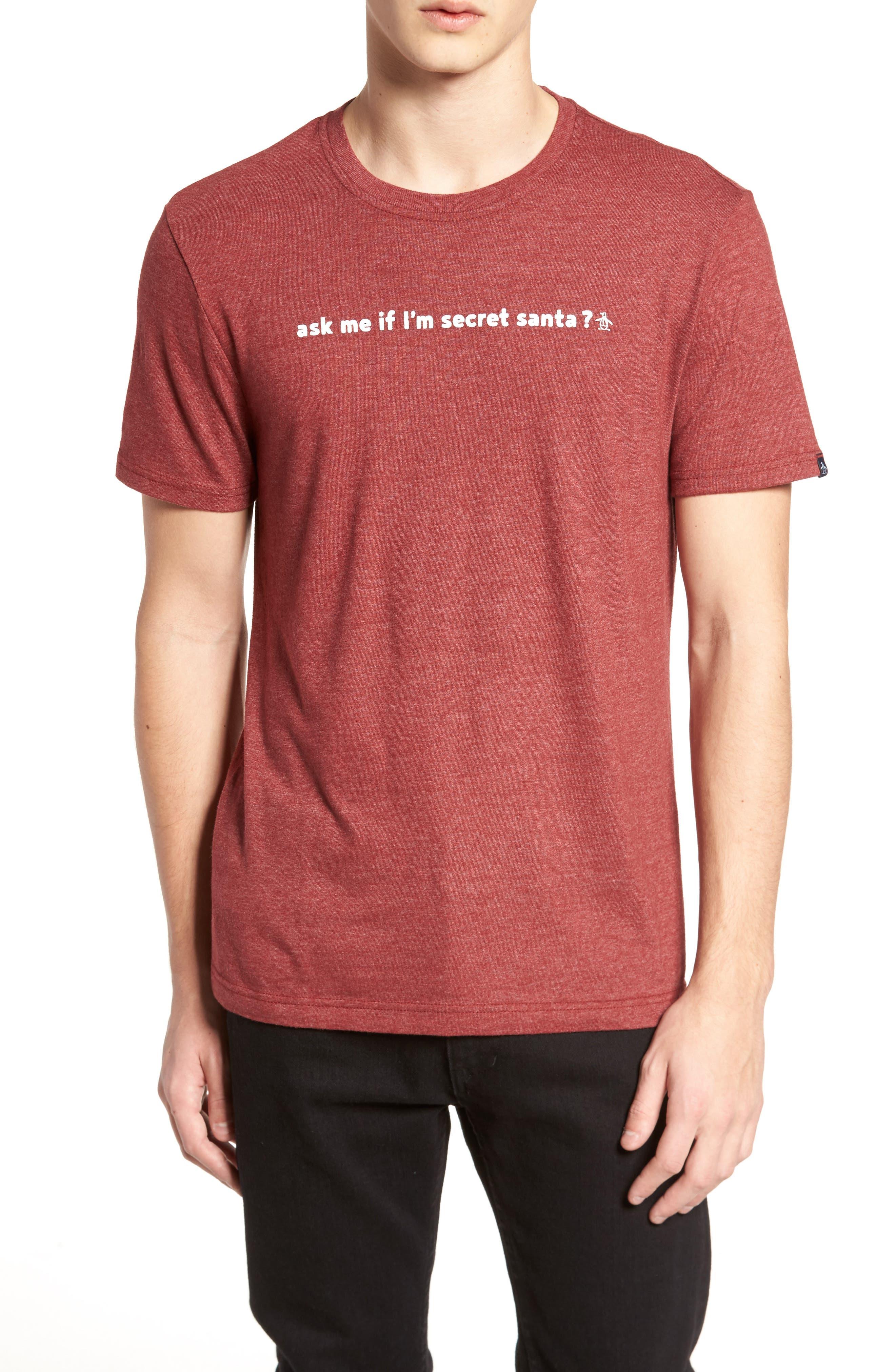 Secret Santa T-Shirt,                             Main thumbnail 1, color,