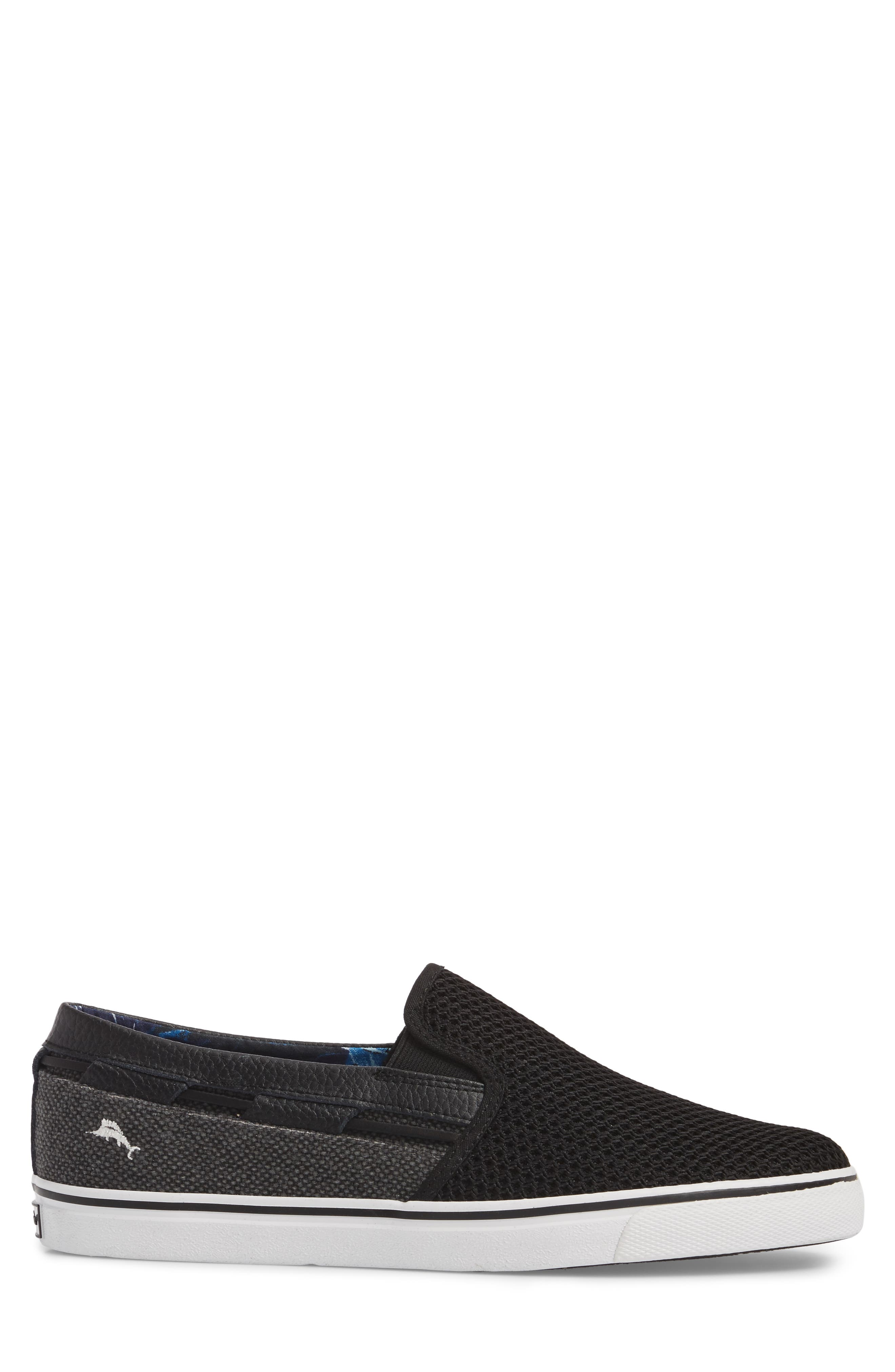 Exodus Mesh Slip-On Sneaker,                             Alternate thumbnail 3, color,                             BLACK MESH/ TEXTILE