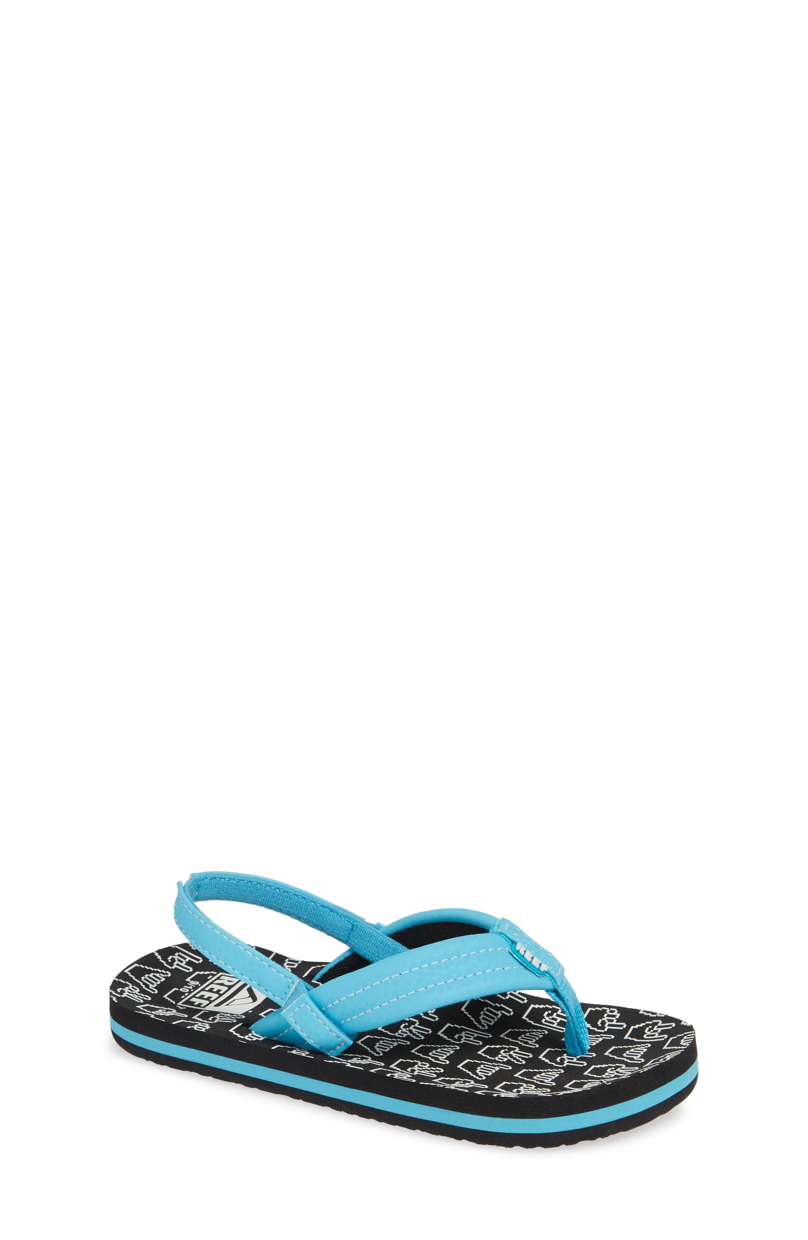 REEF Ahi Glow in the Dark Flip Flop, Main, color, SHAKA GLOW