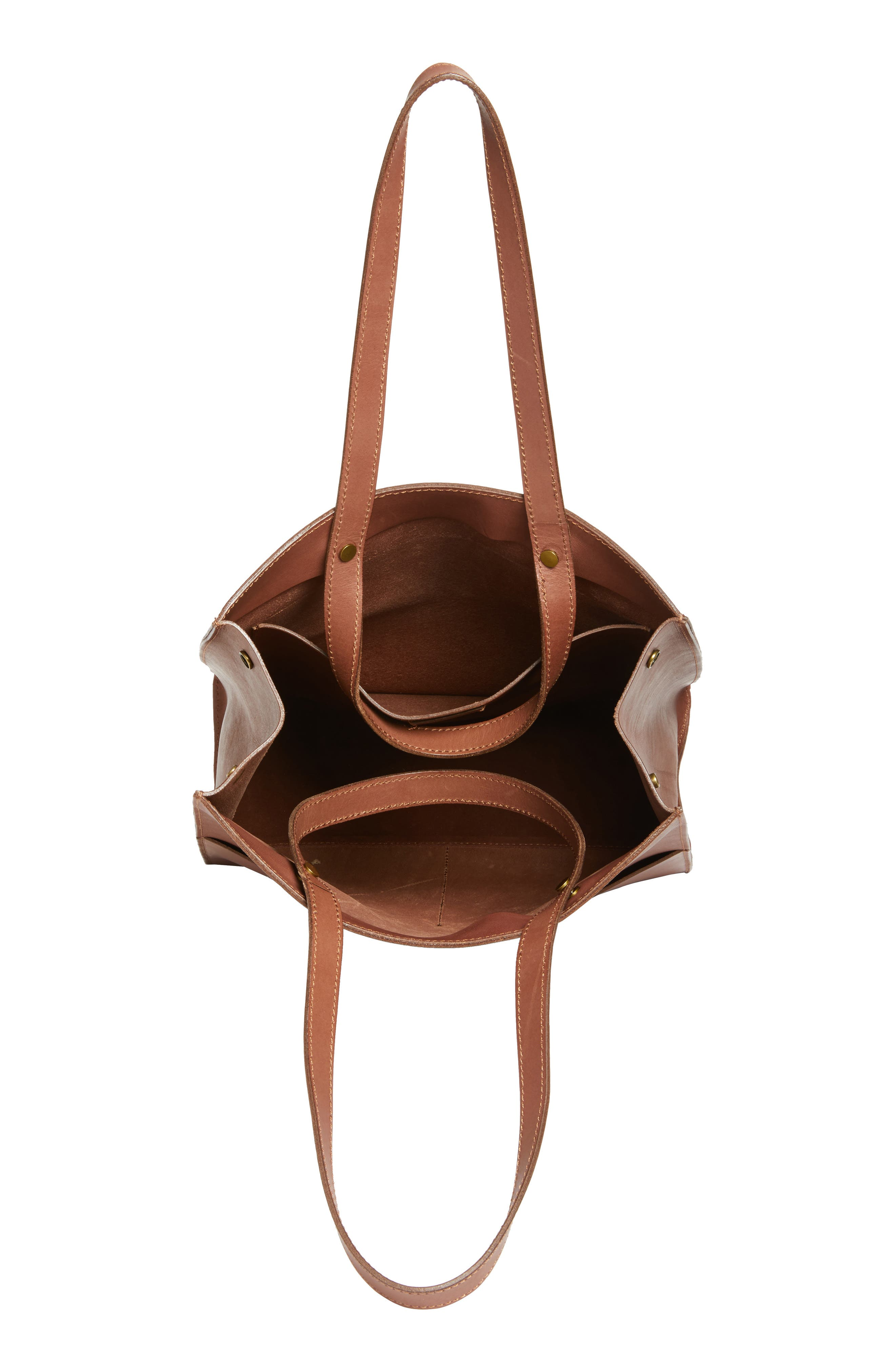 The Passenger Convertible Leather Tote,                             Alternate thumbnail 9, color,