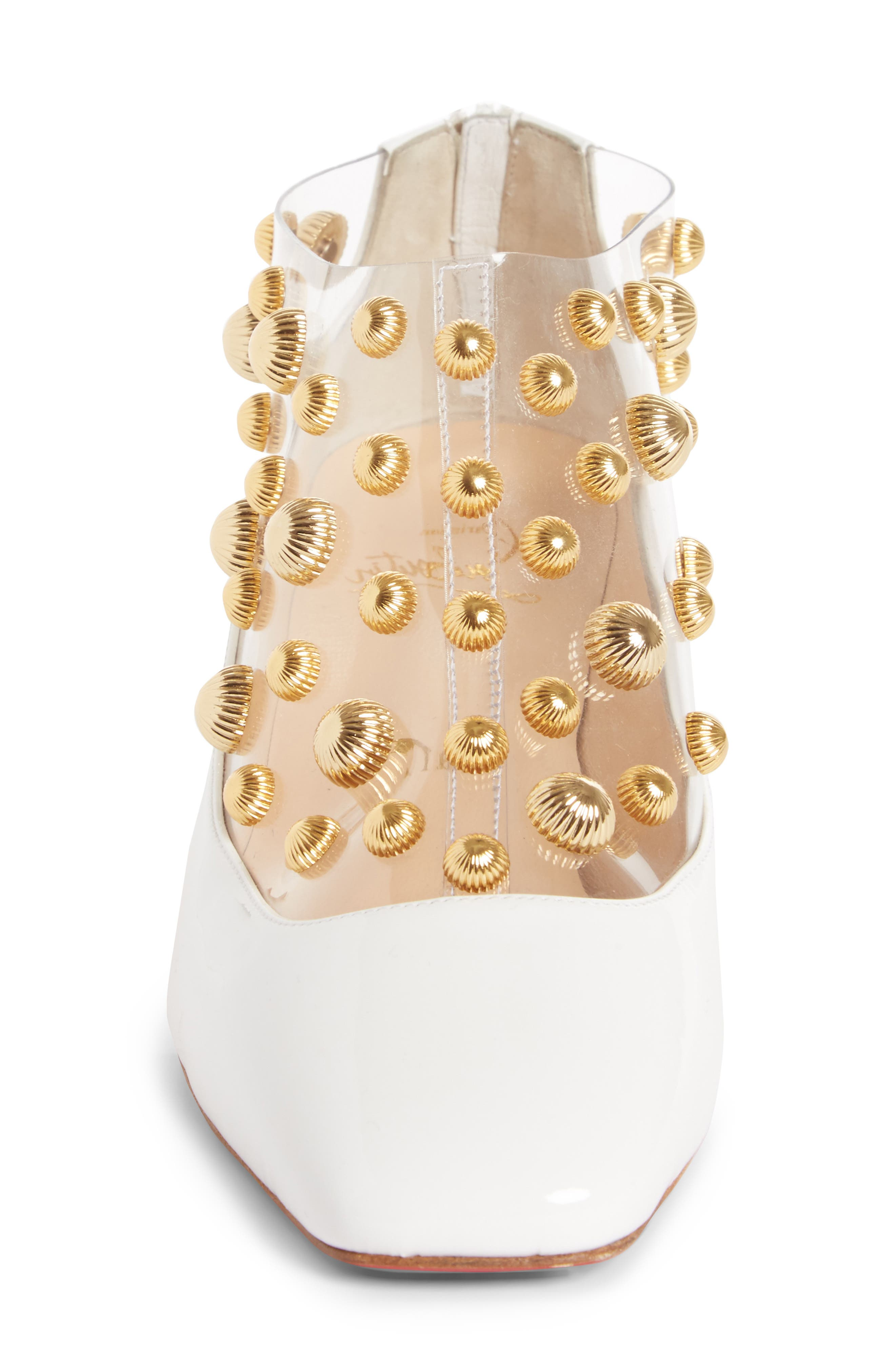 Studded Clear Pump,                             Alternate thumbnail 4, color,                             100