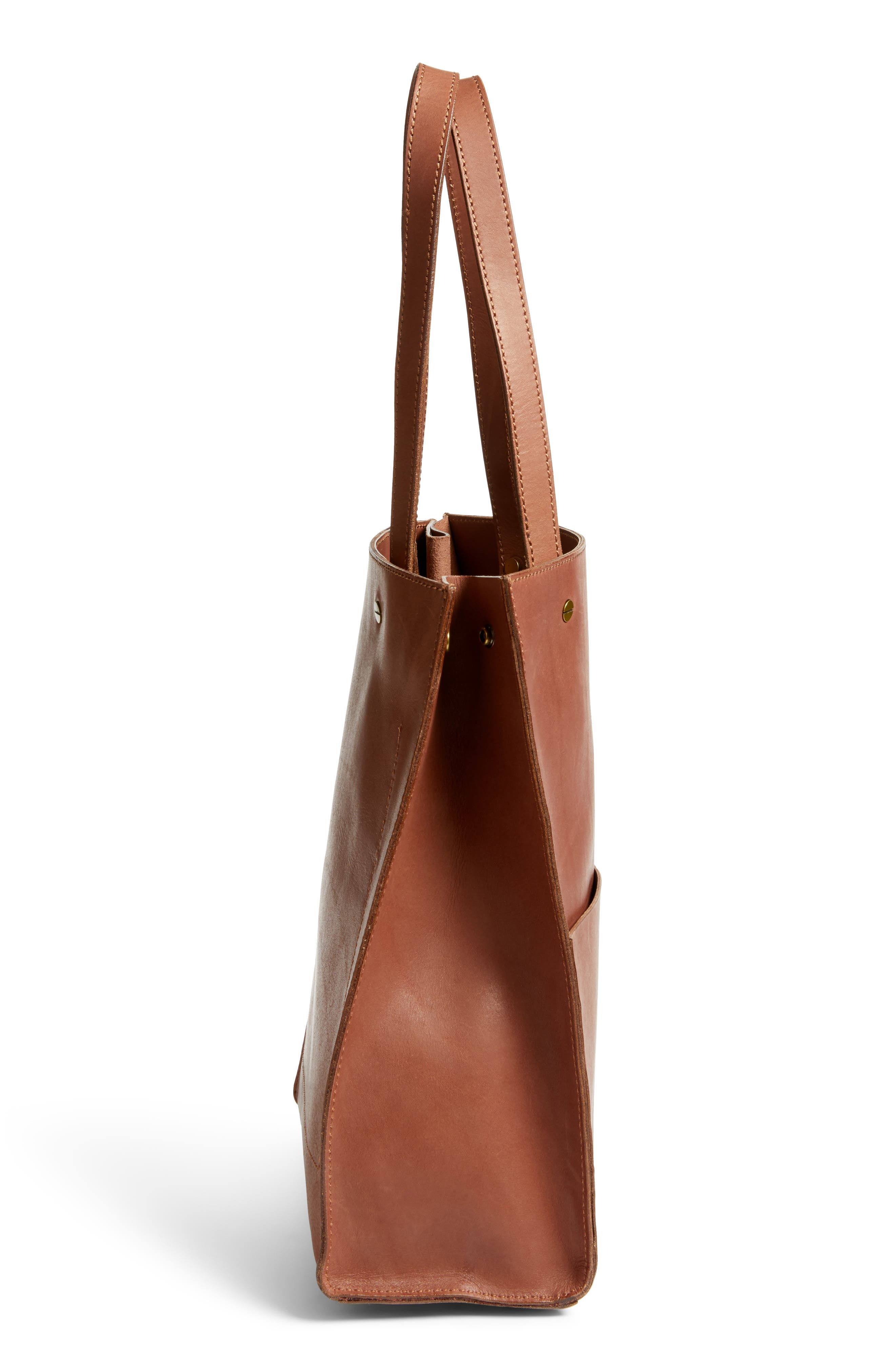 The Passenger Convertible Leather Tote,                             Alternate thumbnail 12, color,