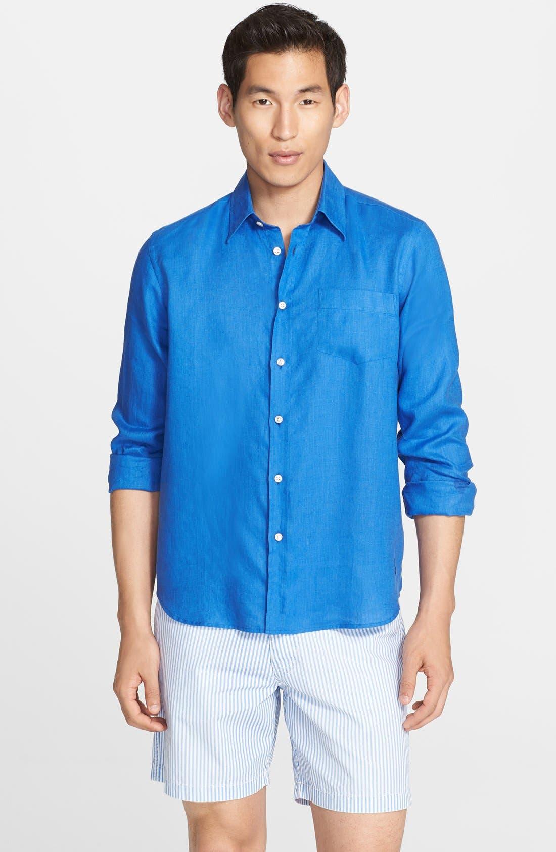 'Caroubier' Linen Shirt,                             Main thumbnail 10, color,
