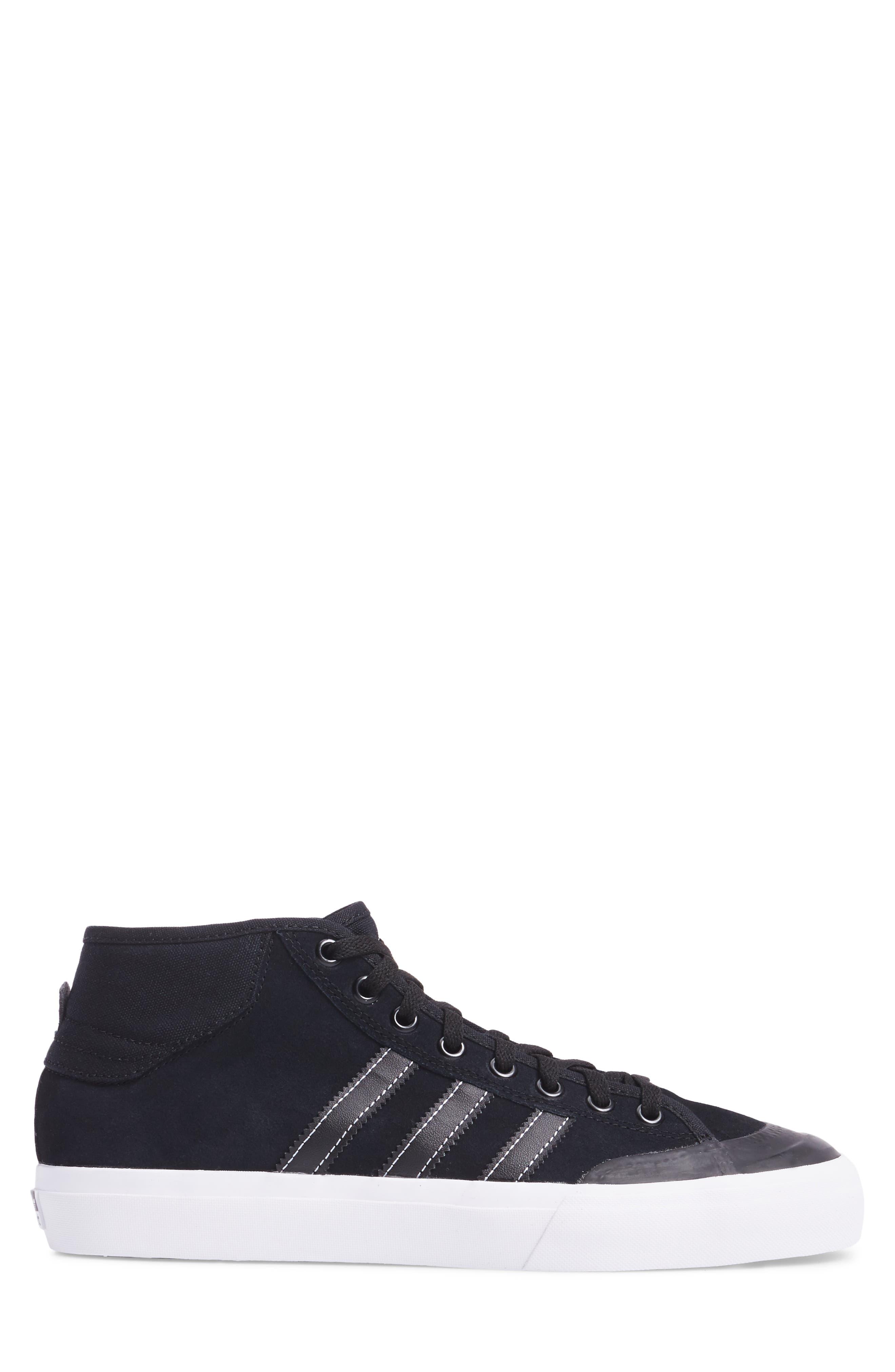 Matchcourt Mid ADV Sneaker,                             Alternate thumbnail 3, color,                             001