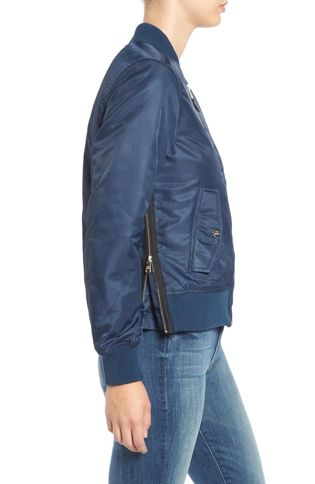 Side Zip Bomber Jacket,                             Alternate thumbnail 29, color,