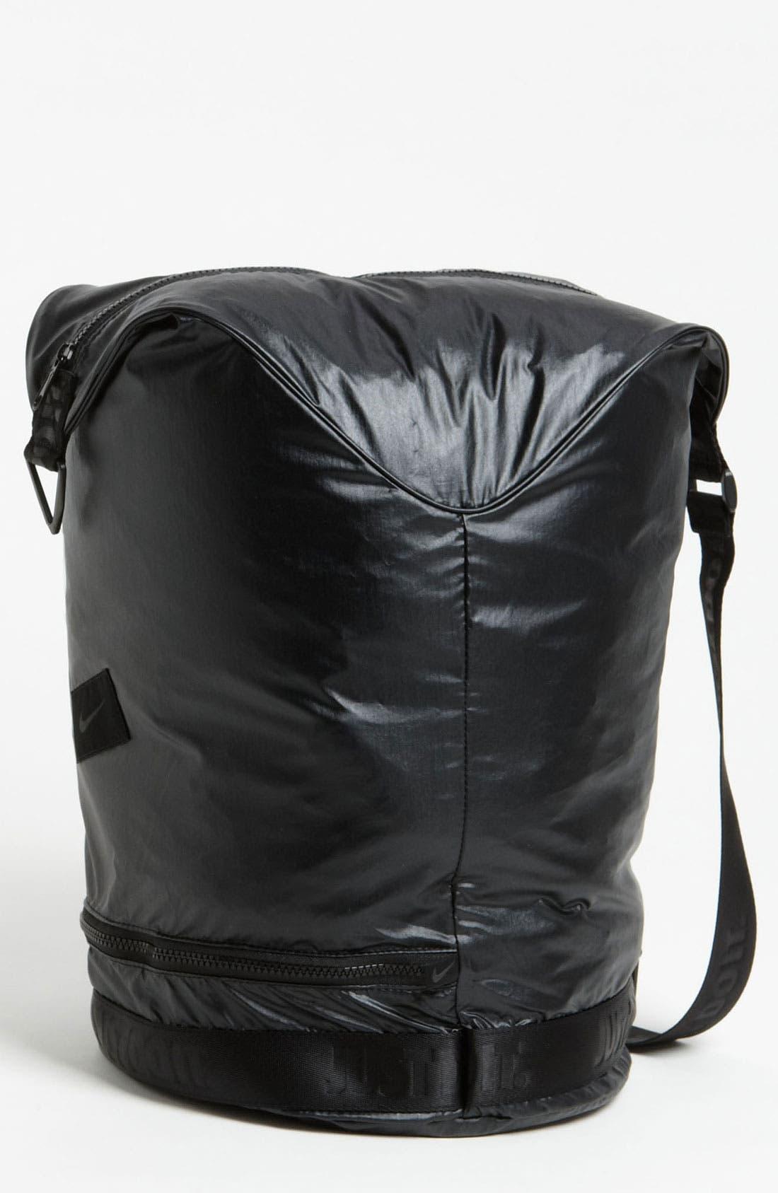NIKE,                             'Bucket' Sling Bag,                             Alternate thumbnail 4, color,                             030