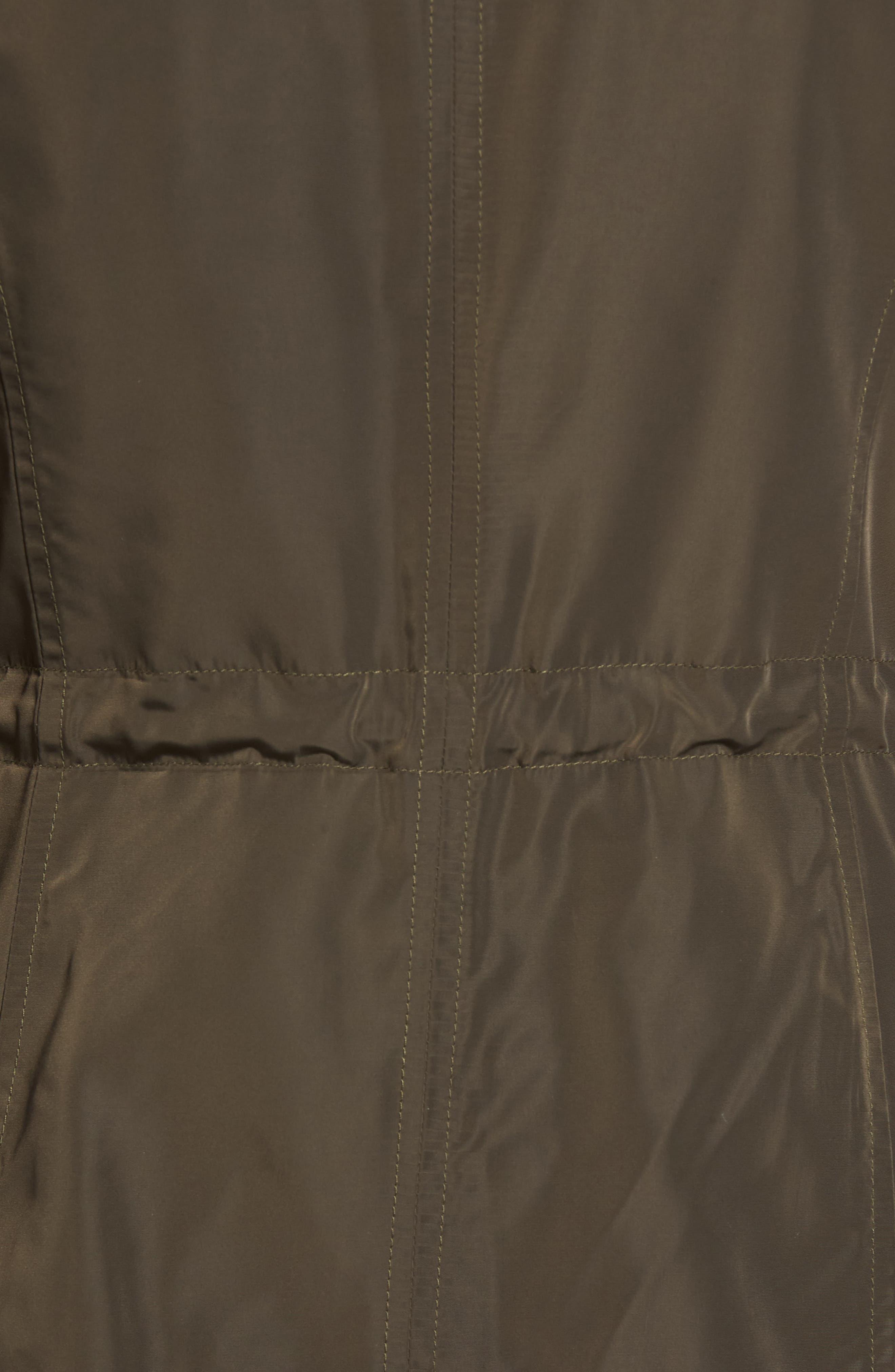Faux Leather Trim Anorak,                             Alternate thumbnail 6, color,                             310