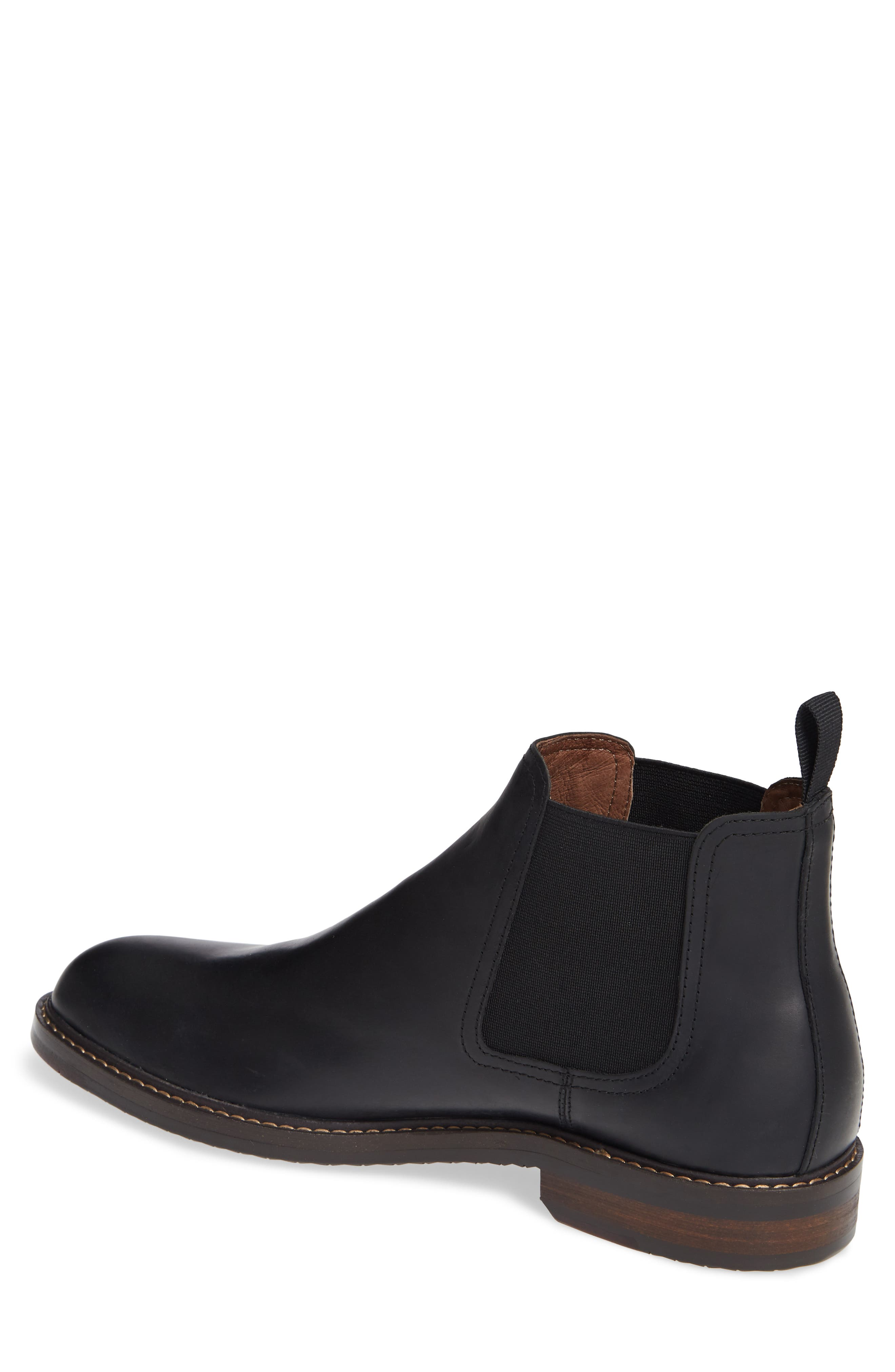 Brooks Chelsea Boot,                             Alternate thumbnail 2, color,                             BLACK LEATHER