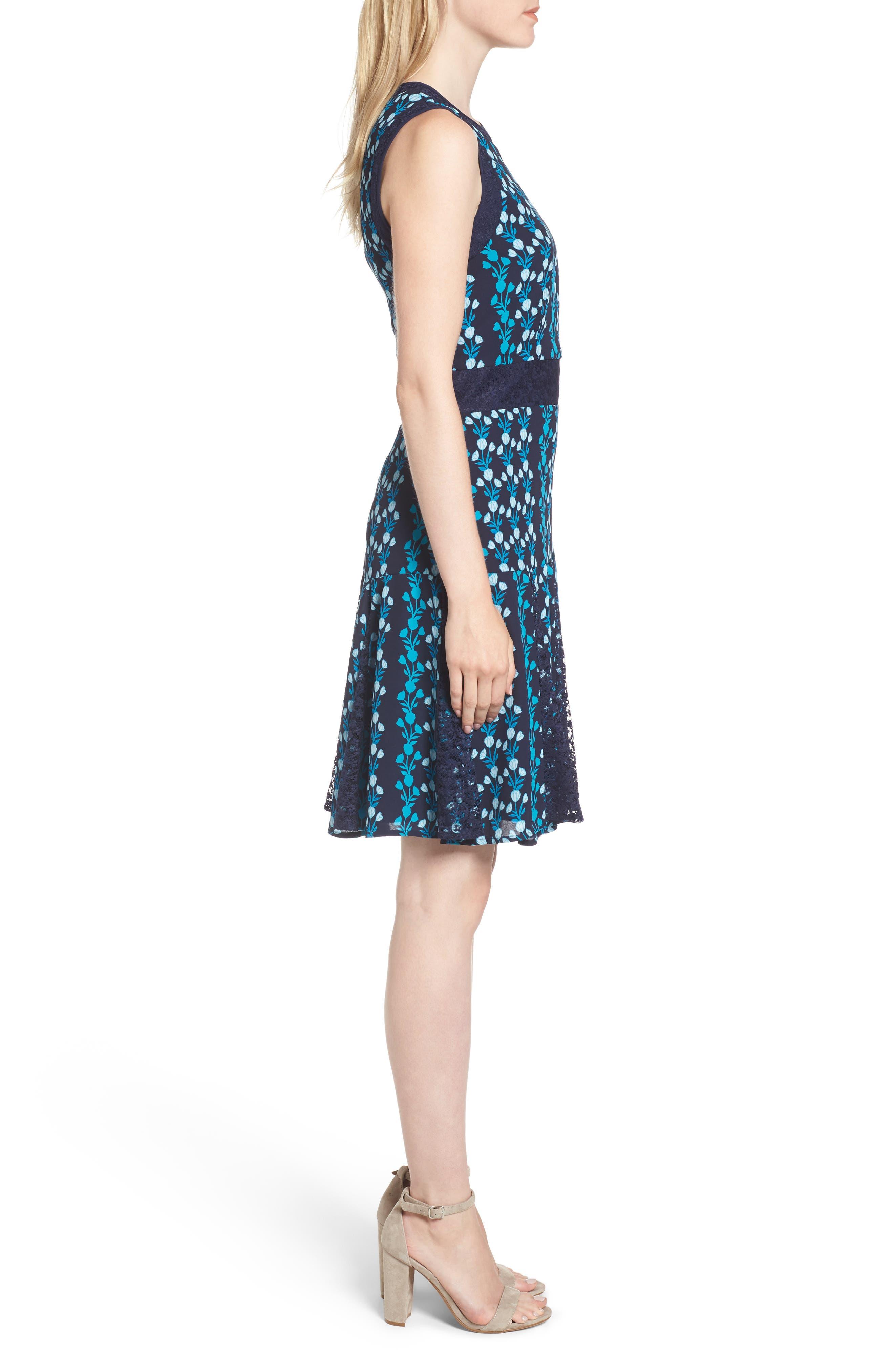 Meadow Vines Lace Dress,                             Alternate thumbnail 3, color,