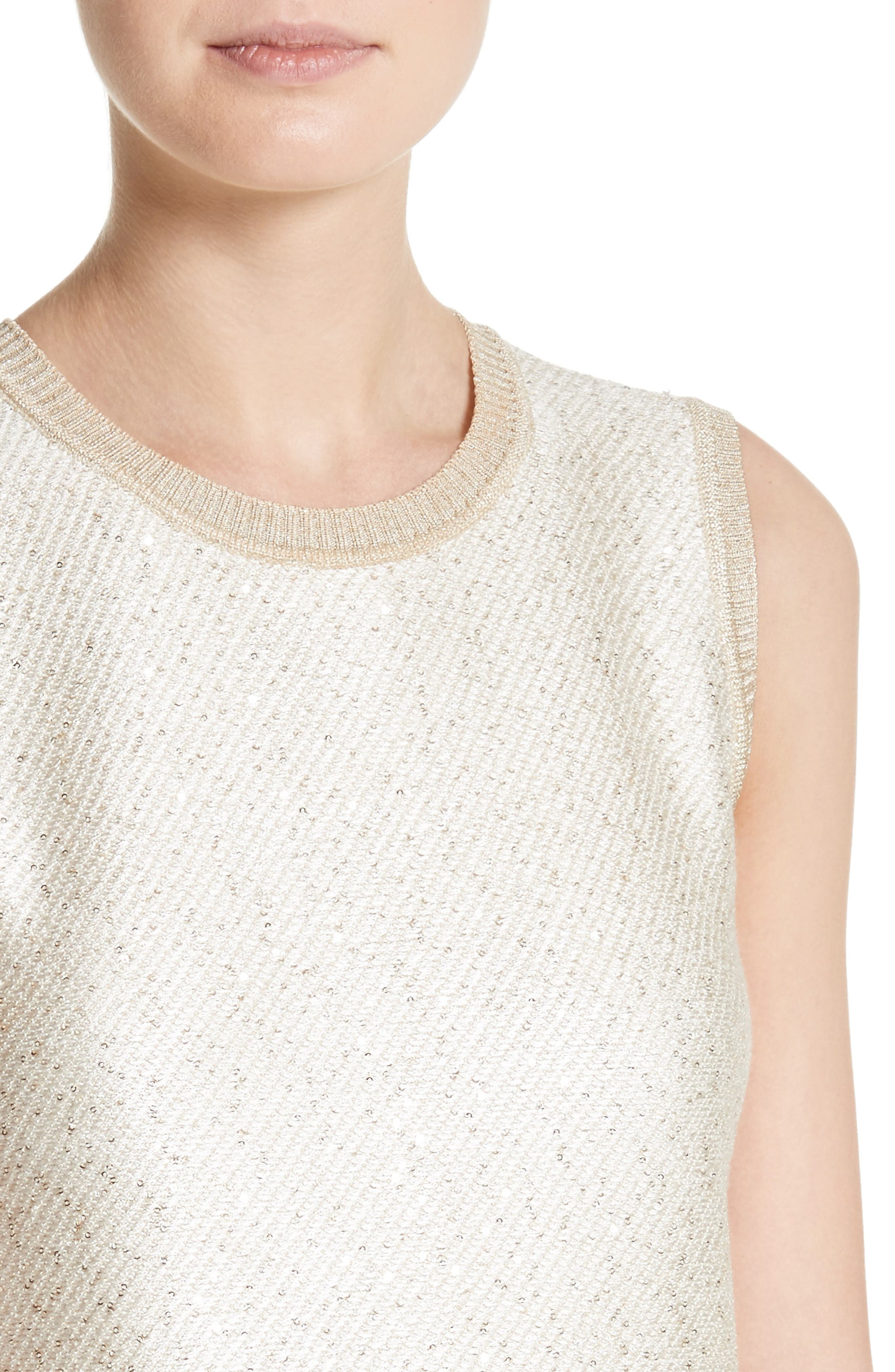 Vivaan Sequin Knit Shell,                             Alternate thumbnail 4, color,                             900