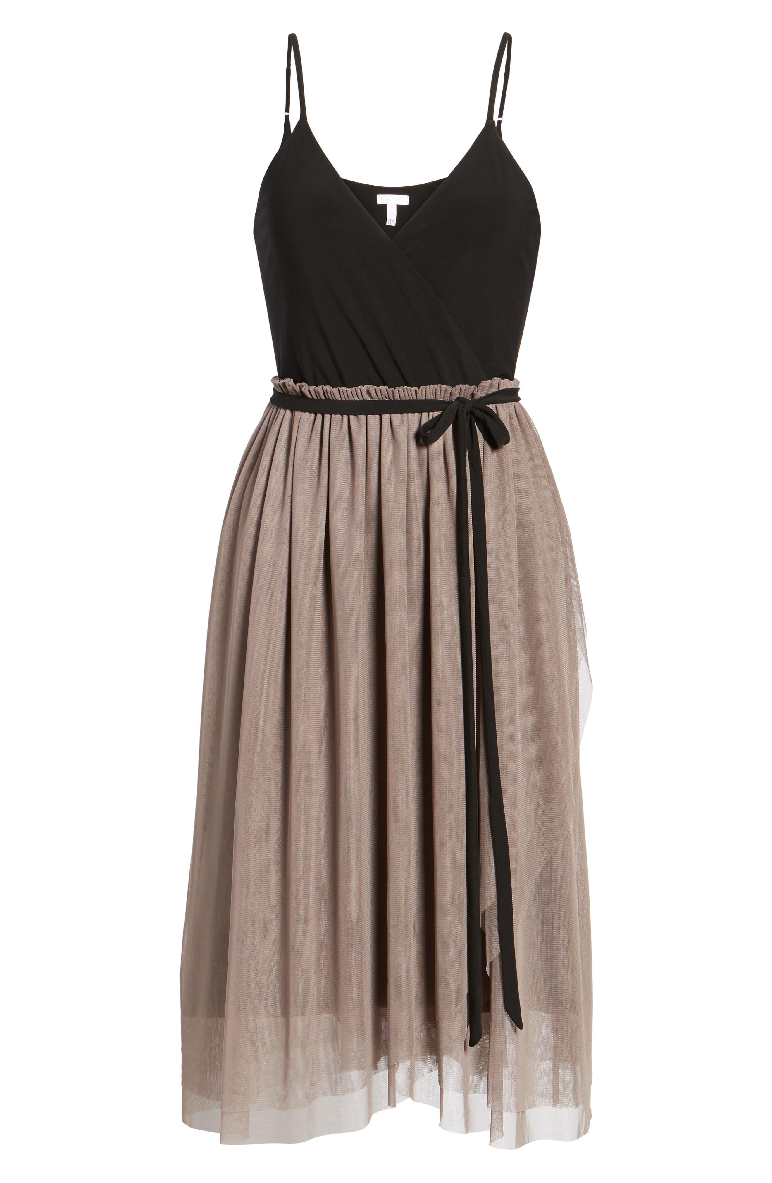 Mixed Media Midi Dress,                             Alternate thumbnail 6, color,                             238