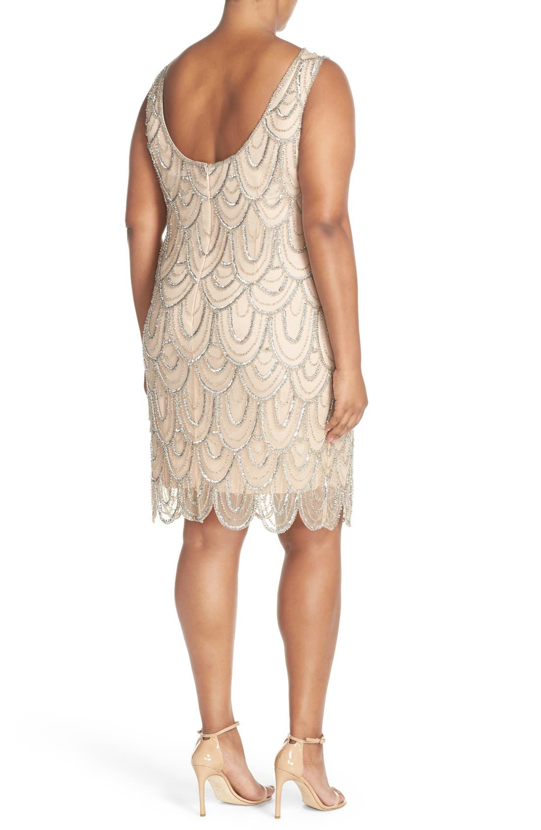 Beaded Sheath Dress,                             Alternate thumbnail 34, color,