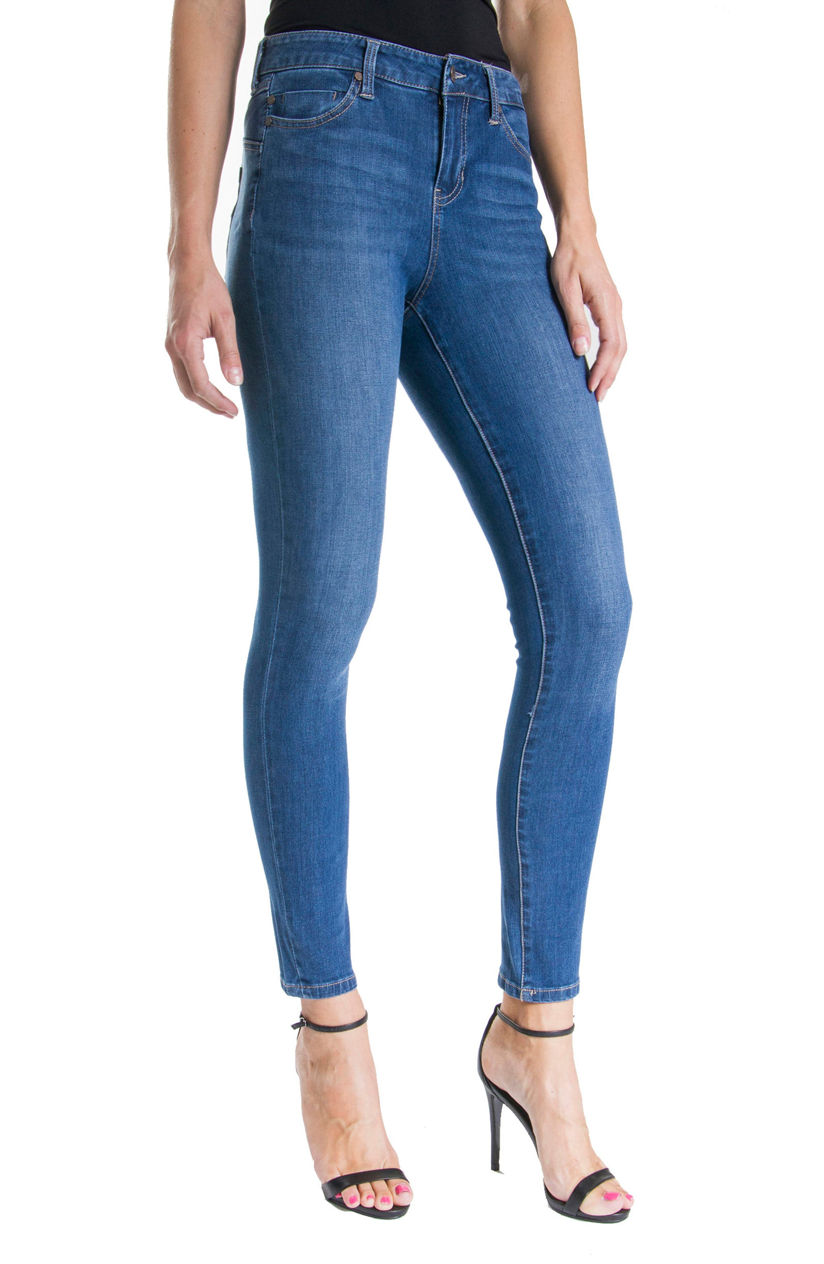 Jeans Company Piper Hugger Lift Sculpt Ankle Skinny Jeans,                             Alternate thumbnail 9, color,
