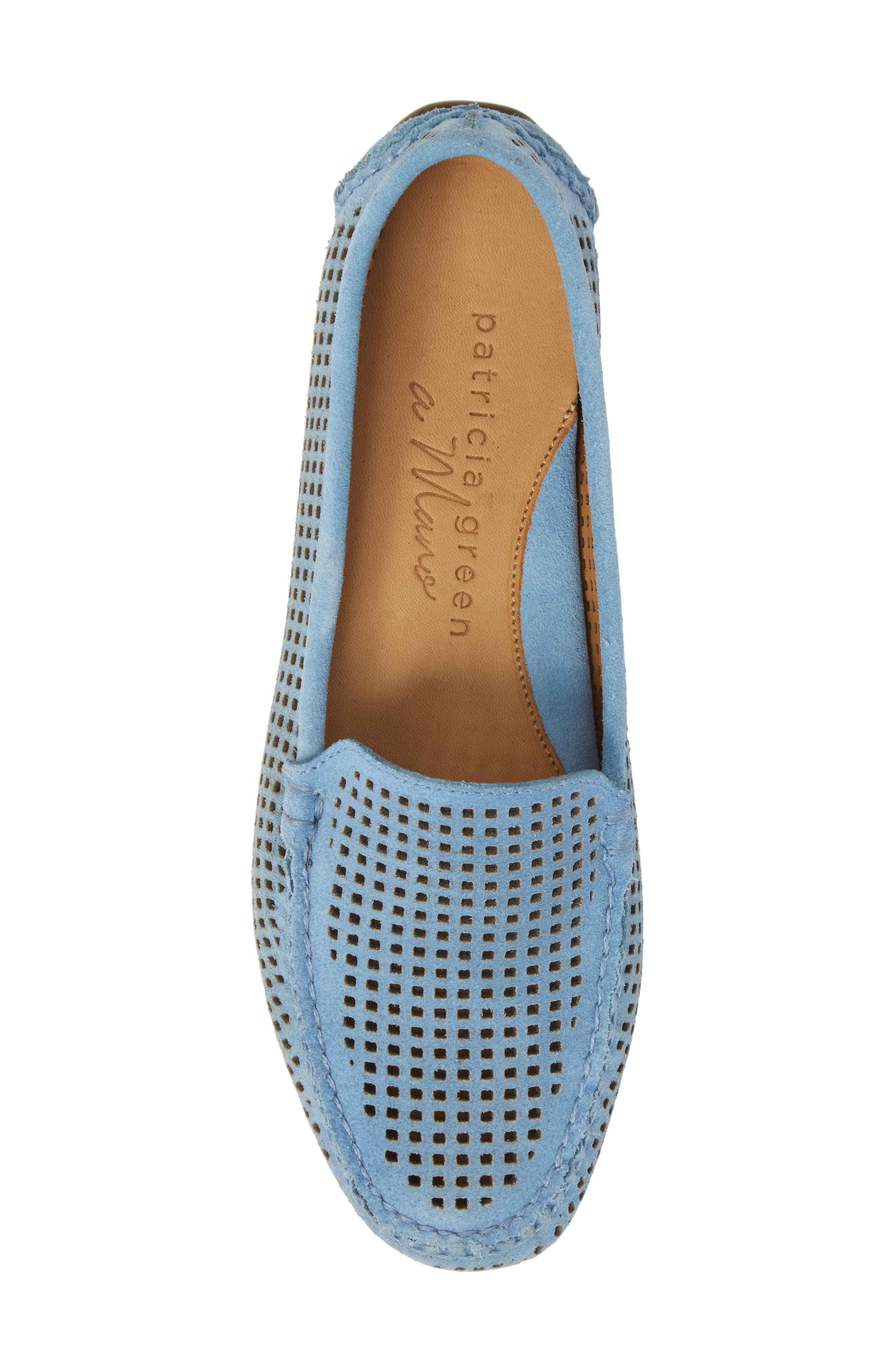 'Barrie' Flat,                             Alternate thumbnail 5, color,                             FRENCH BLUE SUEDE