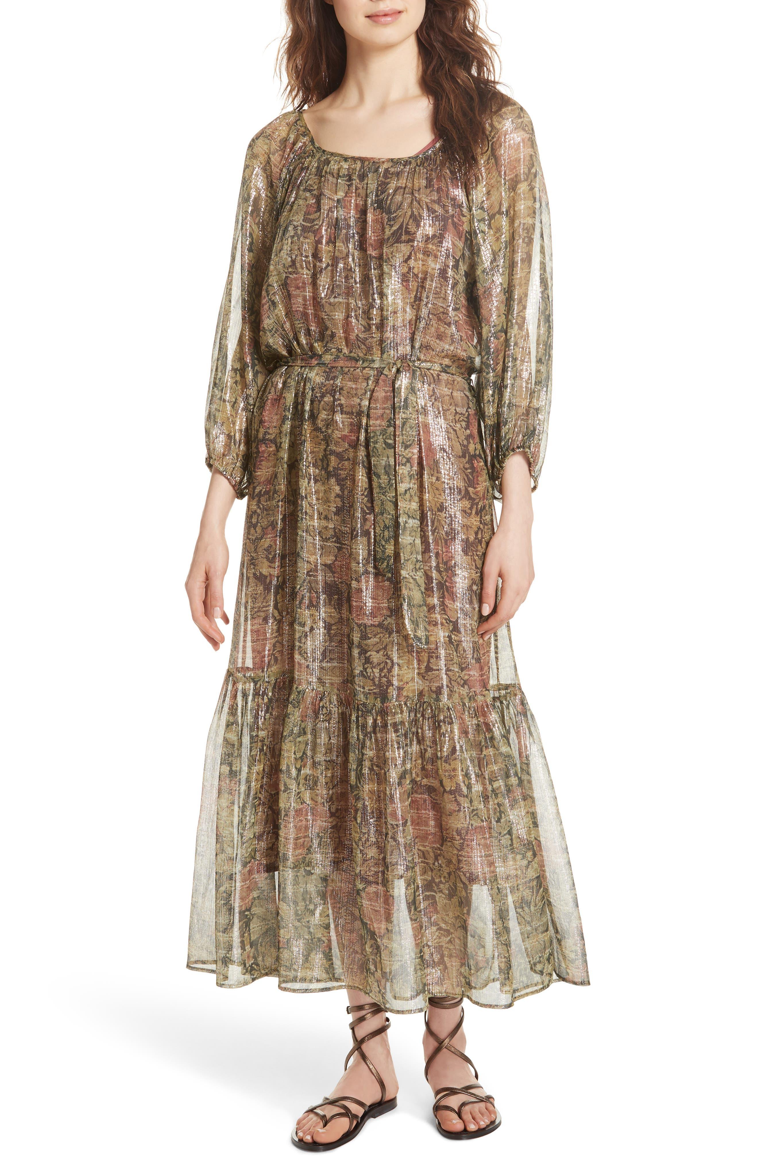 Print Dress,                         Main,                         color, 391