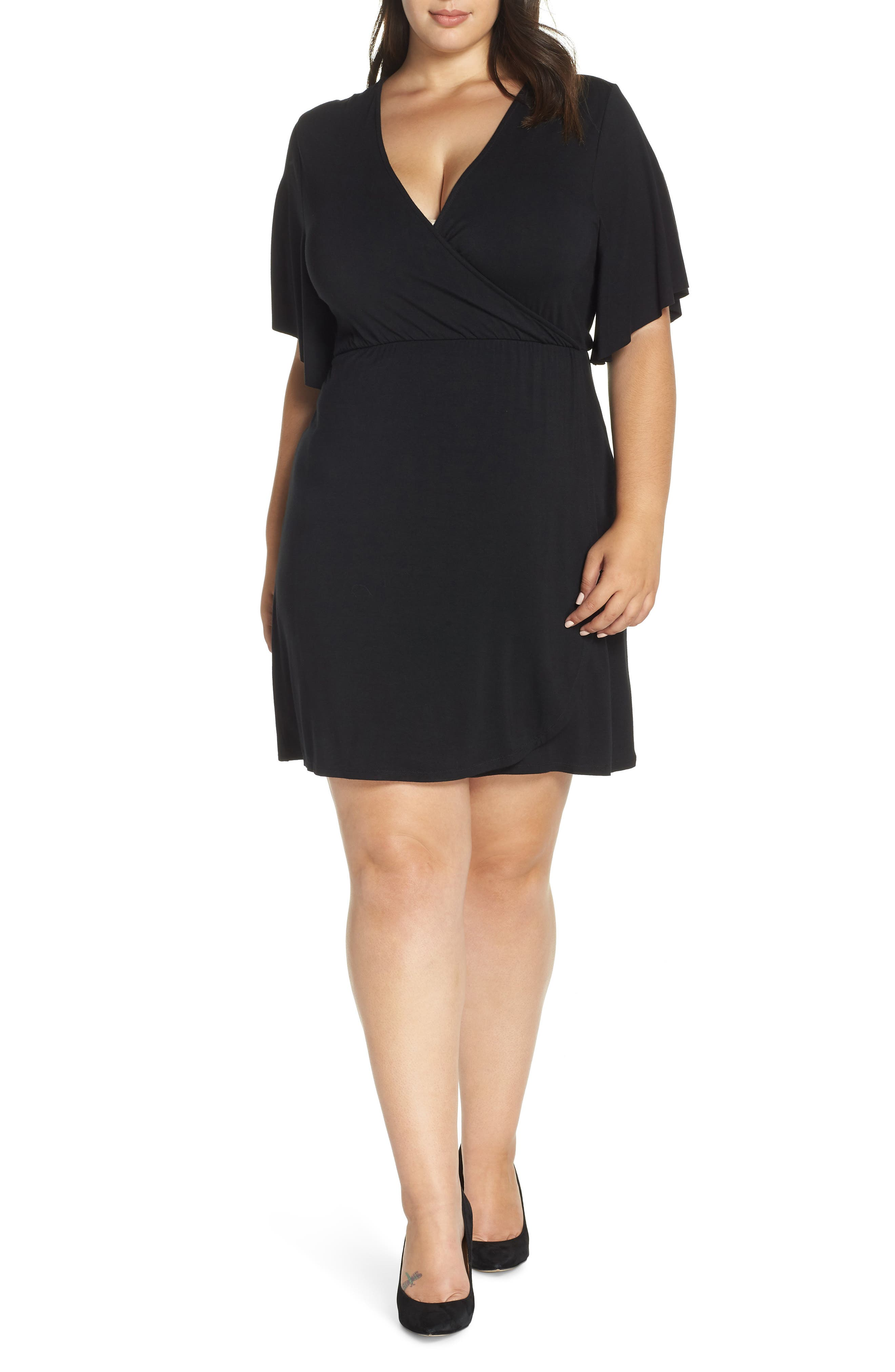 Plus Size Lemon Tart Carson Dress, Black