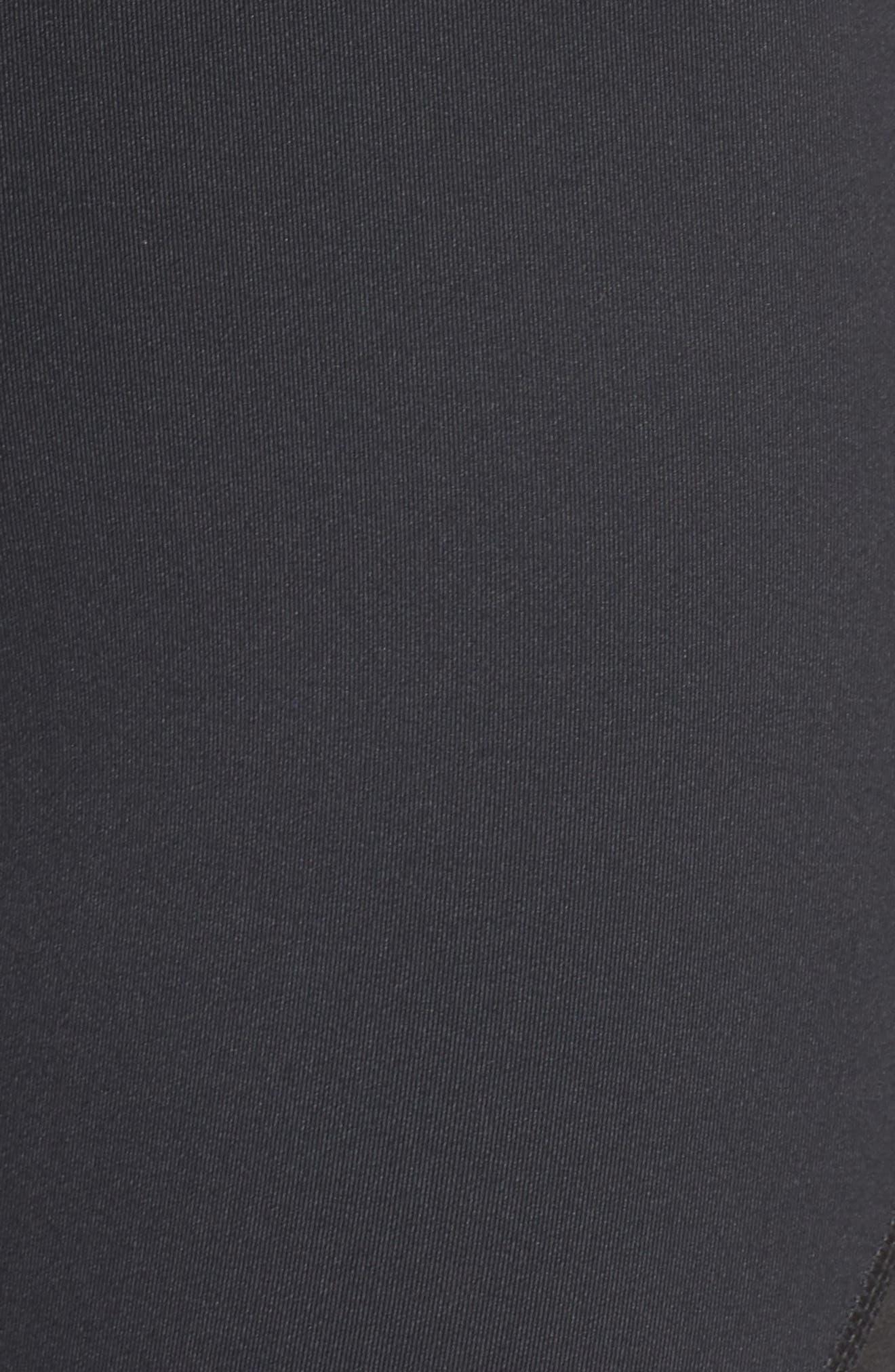 ZELLA,                             Platinum Moto Leggings,                             Alternate thumbnail 5, color,                             001