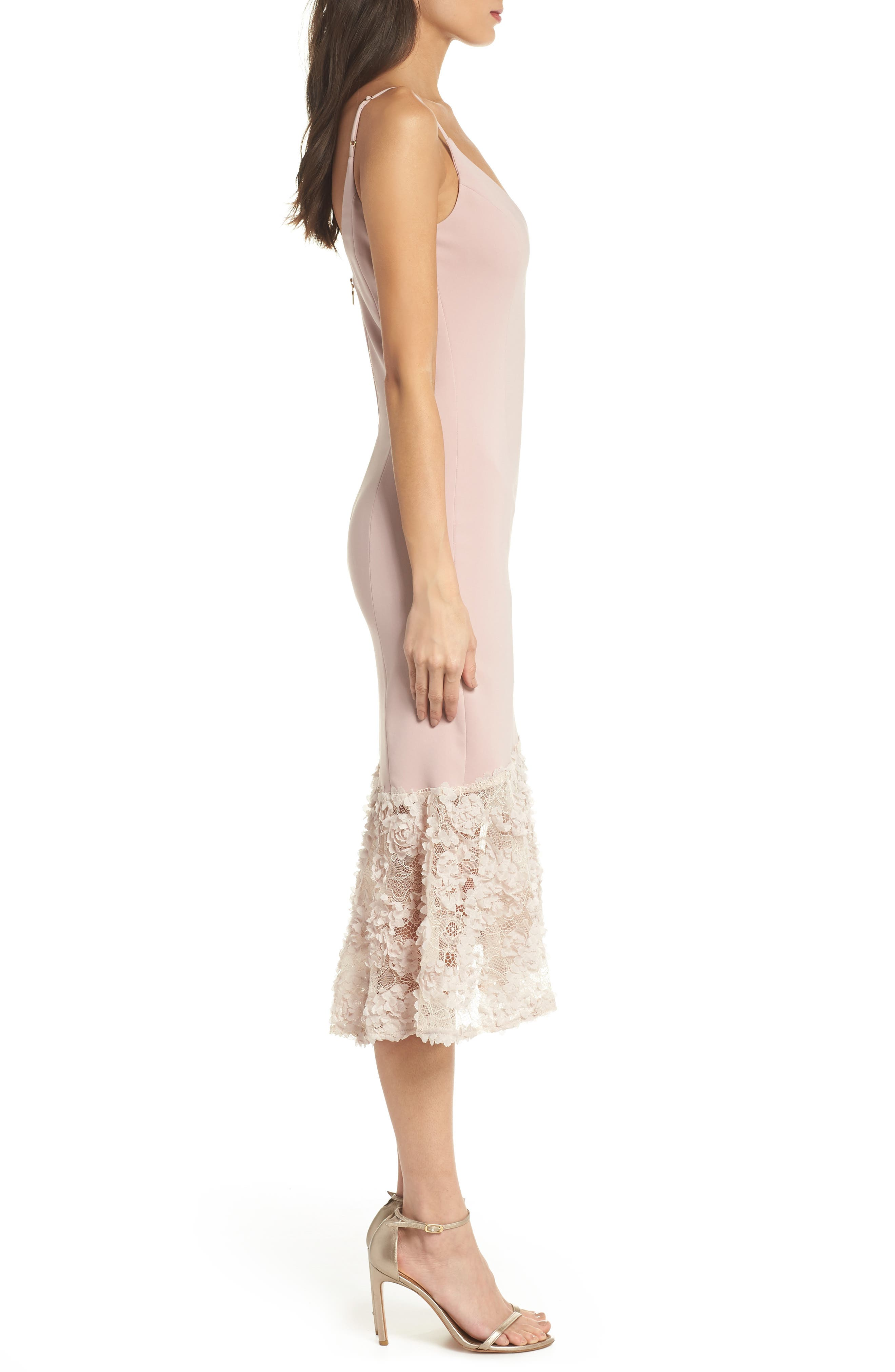 Milly Lace Flounce Slipdress,                             Alternate thumbnail 6, color,