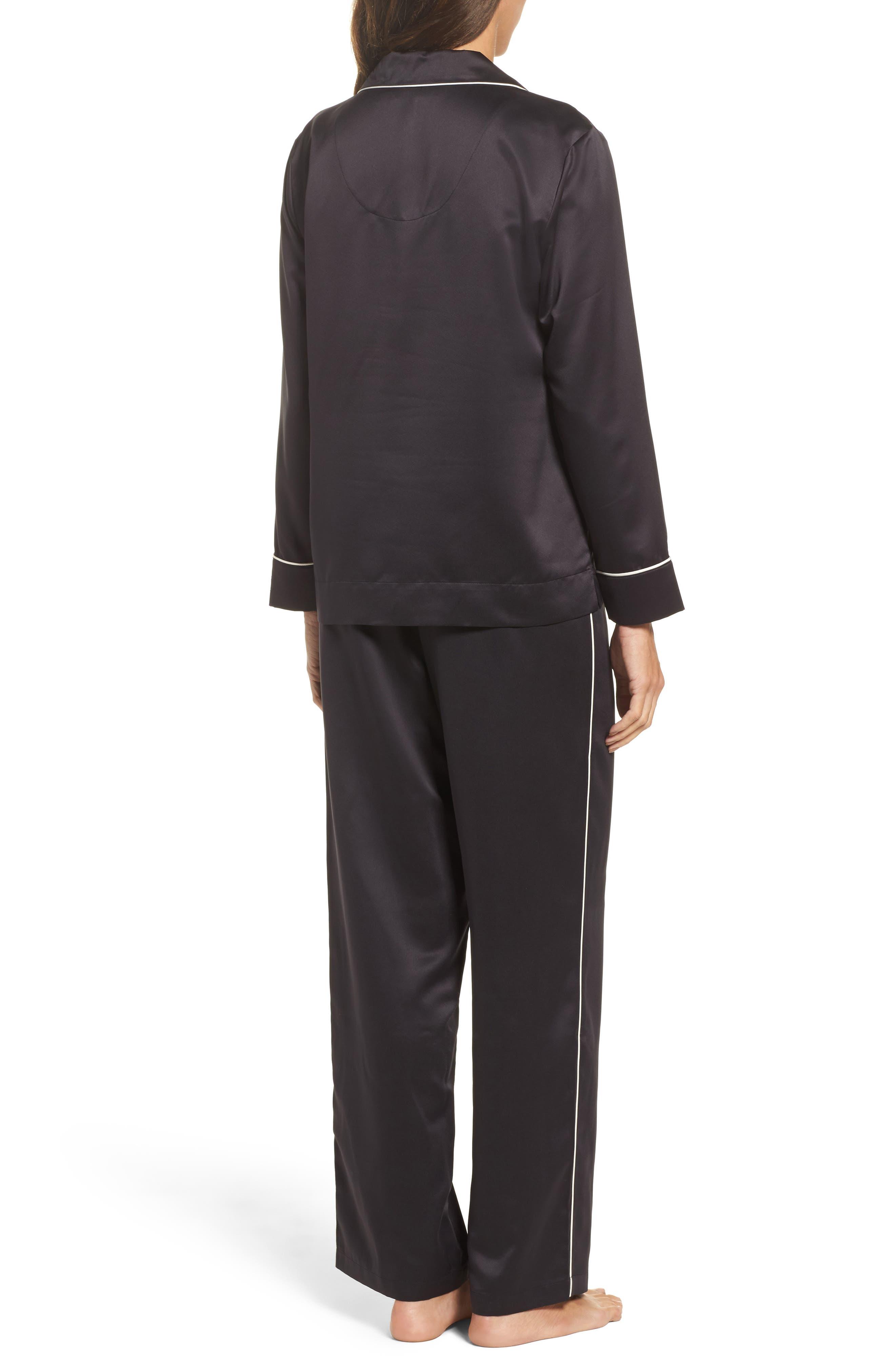 Sateen Pajamas,                             Alternate thumbnail 2, color,                             001