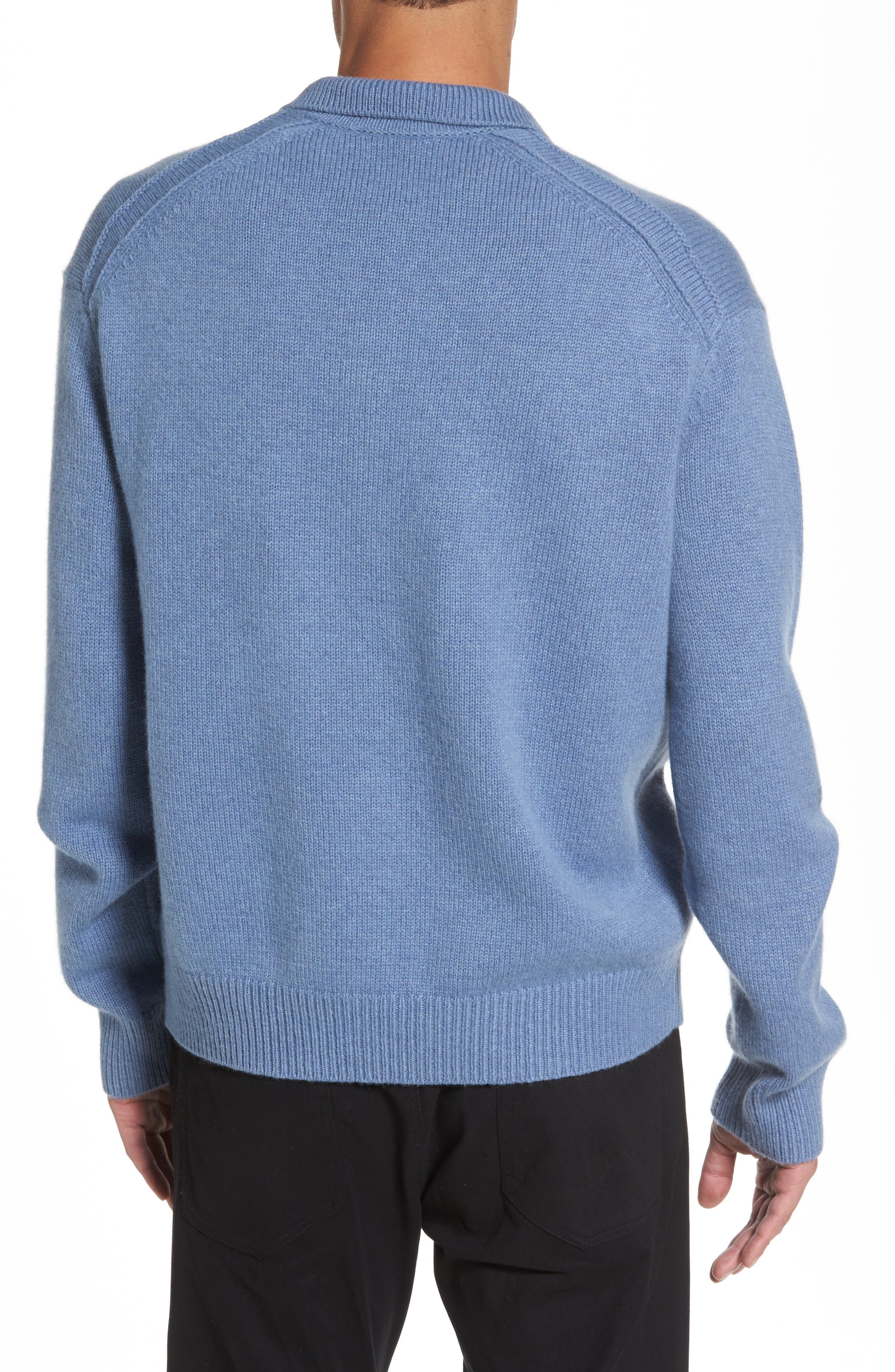 Wool & Cashmere Polo Sweater,                             Alternate thumbnail 2, color,                             495