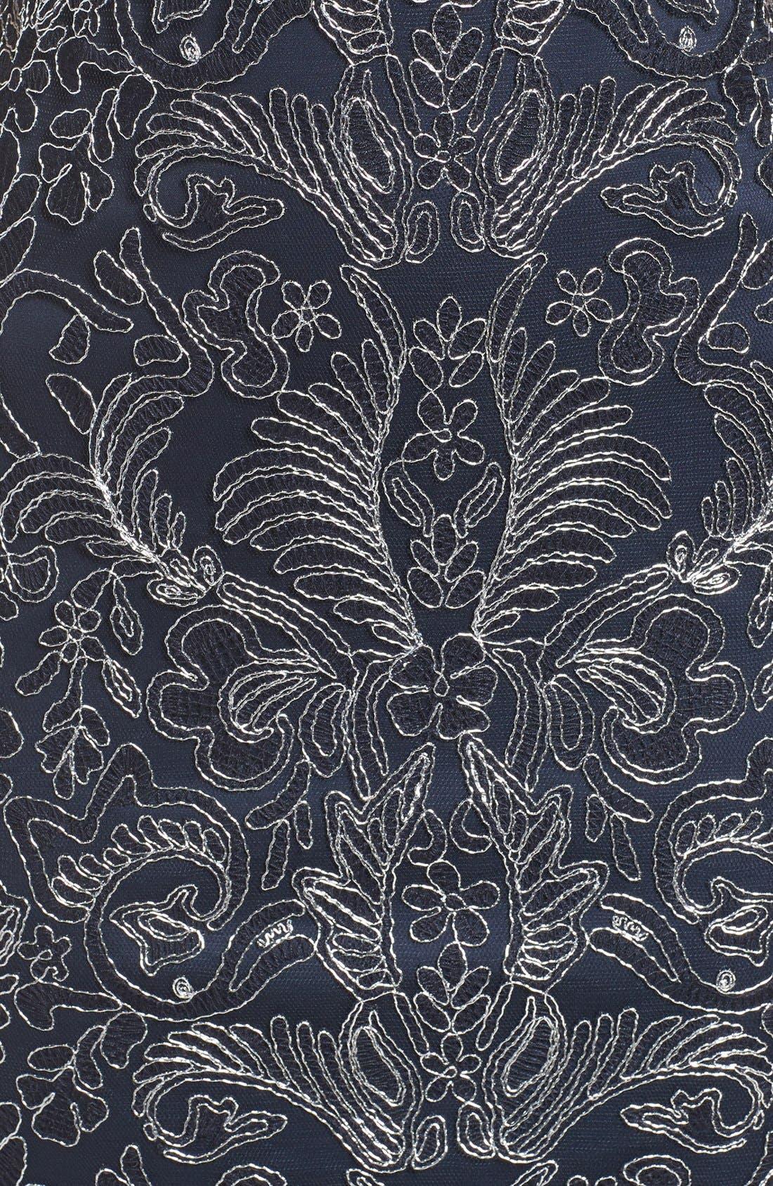 Illusion Yoke Lace Sheath Dress,                             Alternate thumbnail 108, color,