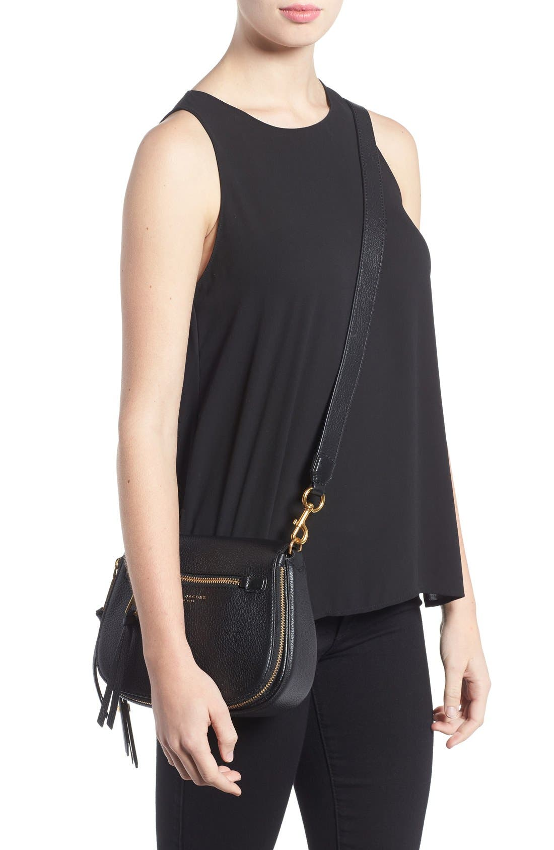 Small Recruit Nomad Pebbled Leather Crossbody Bag,                             Alternate thumbnail 45, color,
