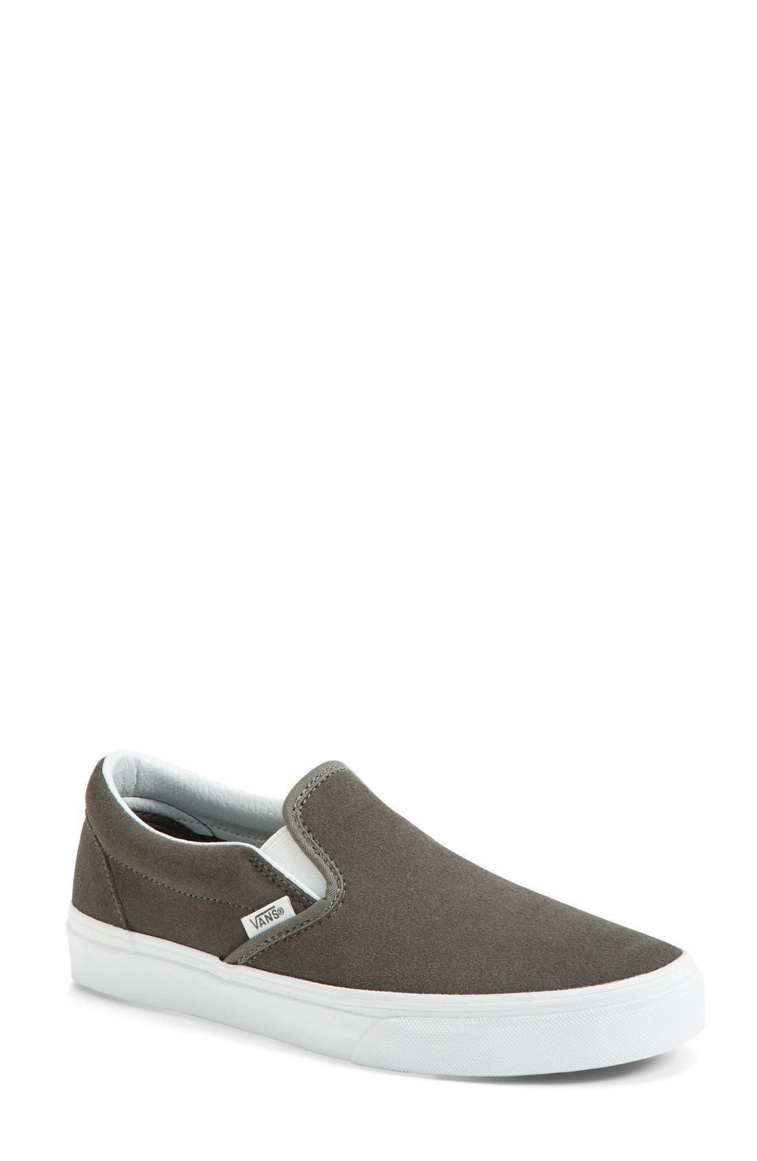 VANS Suede Slip-On Sneaker, Main, color, 020