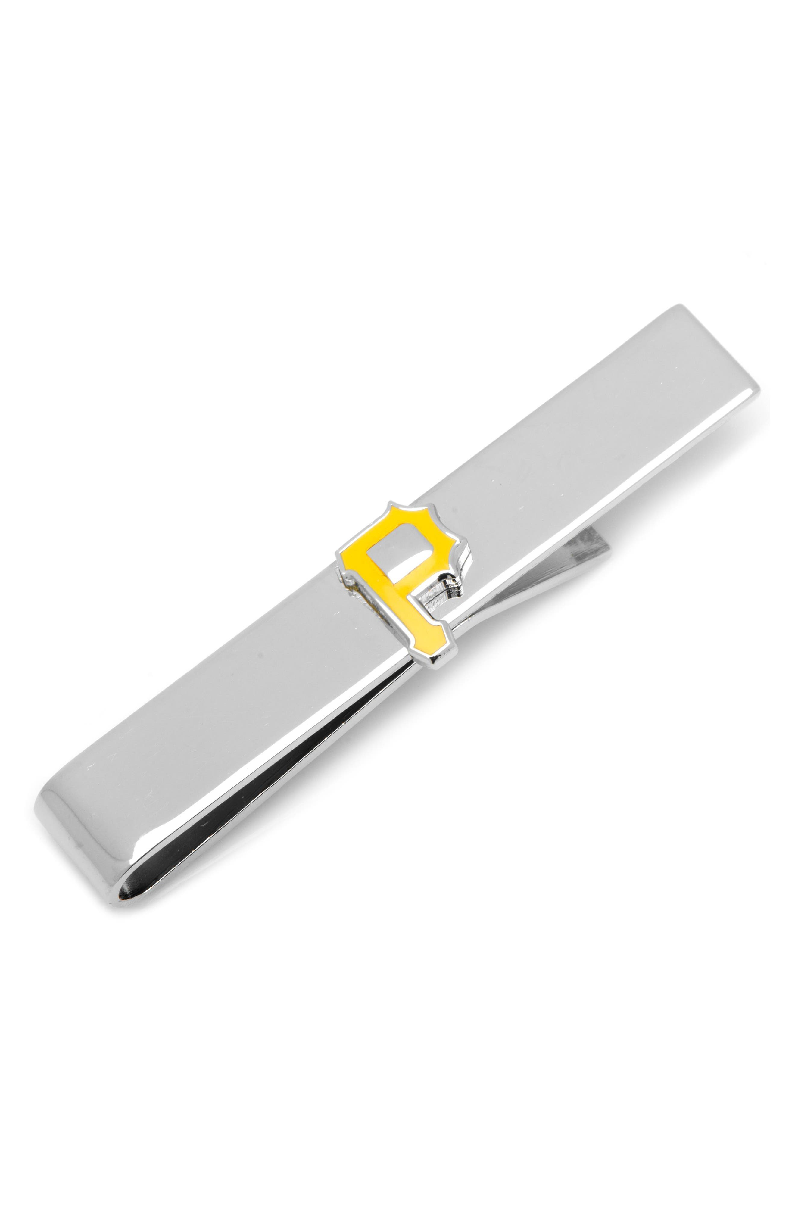 Pittsburgh Pirates Tie Bar,                         Main,                         color, YELLOW/ SILVER