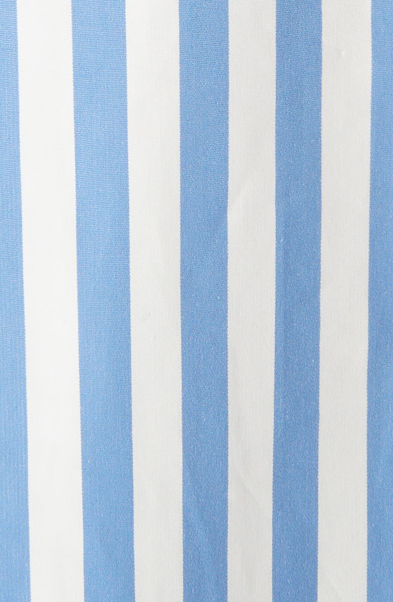 Stripe Poplin Blouse,                             Alternate thumbnail 5, color,                             MADONNA BLUE