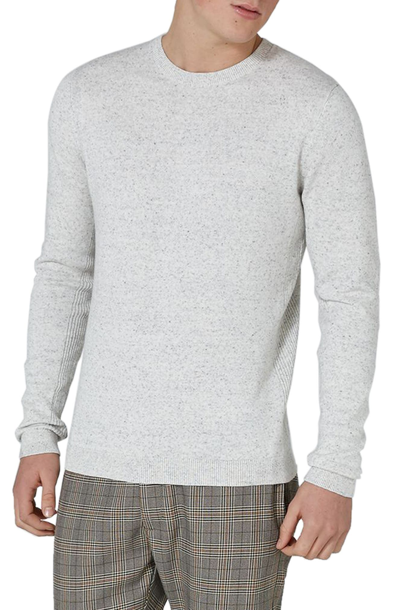 Side Ribbed Slim Fit Sweater,                             Main thumbnail 7, color,