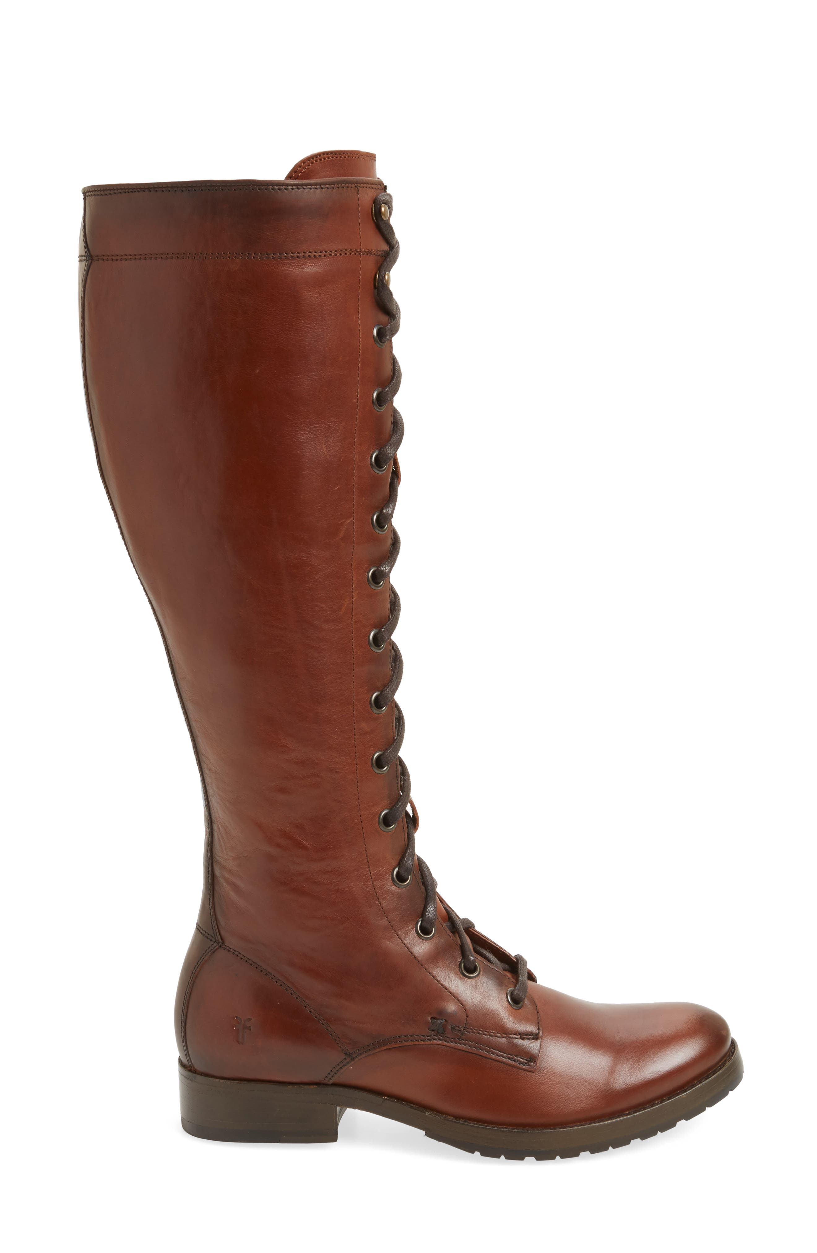 Melissa Tall Lace-Up Boot,                             Alternate thumbnail 6, color,