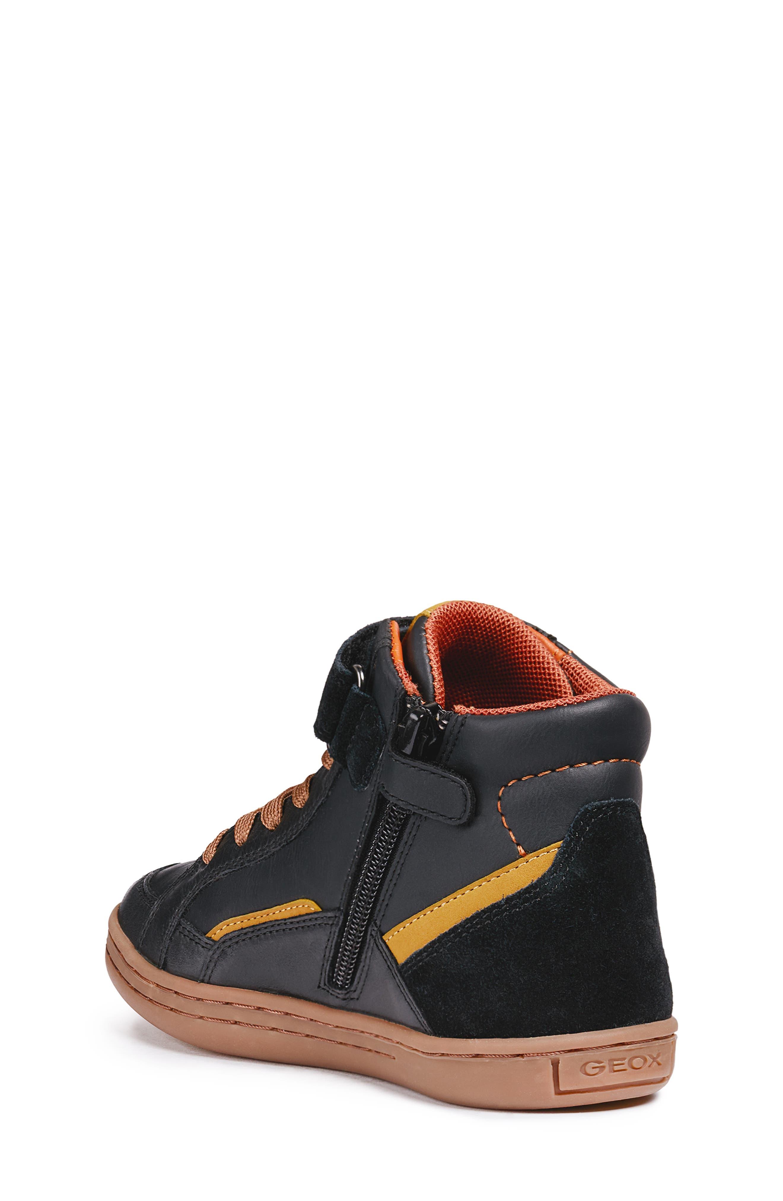 Garcia Mid Sneaker,                             Alternate thumbnail 2, color,                             BLACK/ DARK YELLOW