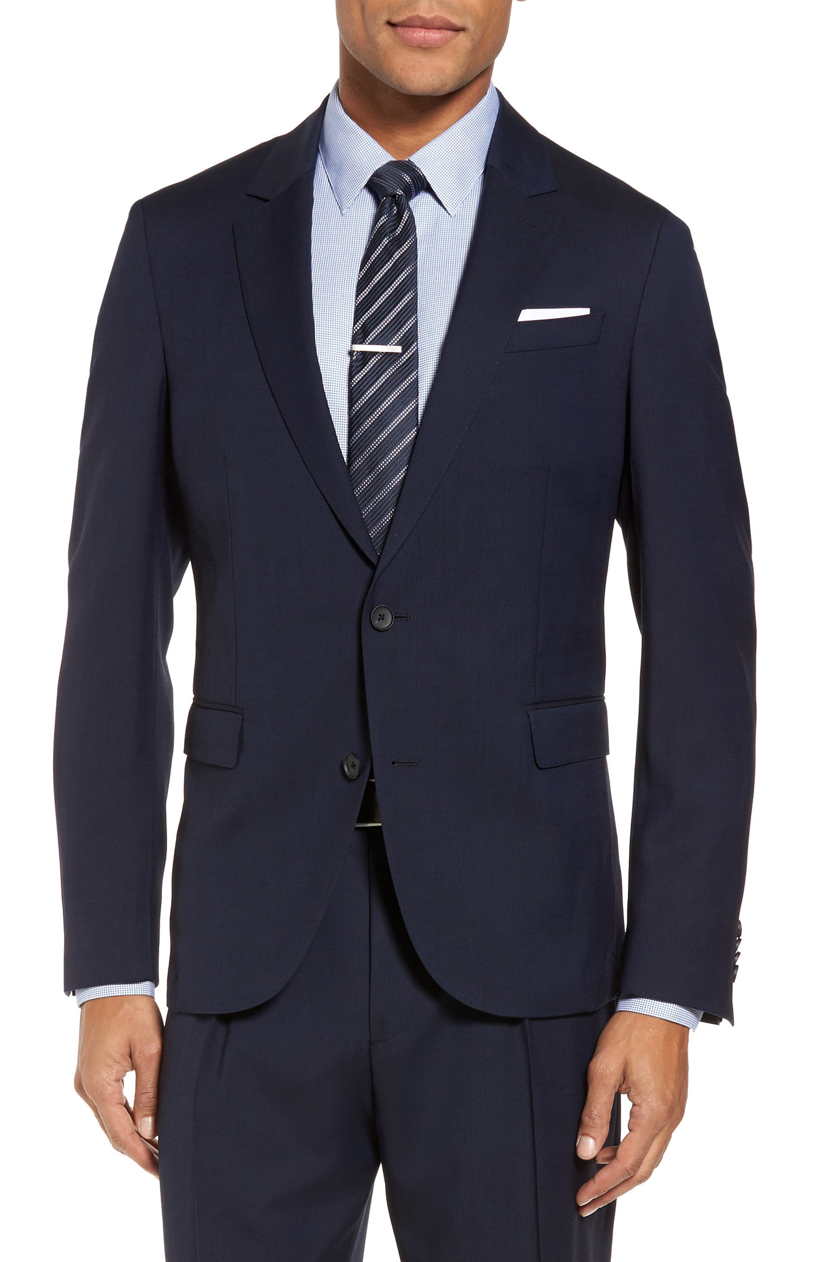 Nylen/Perry Trim Fit Solid Wool Suit,                             Alternate thumbnail 8, color,
