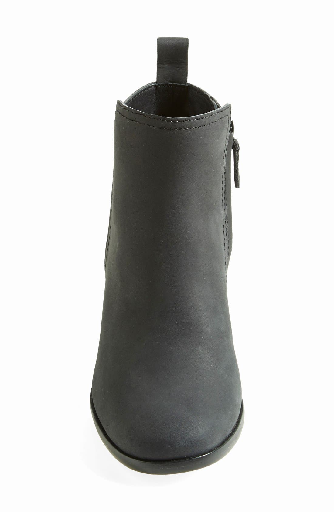 COLE HAAN,                             'Chesney' Round Toe Bootie,                             Alternate thumbnail 3, color,                             001
