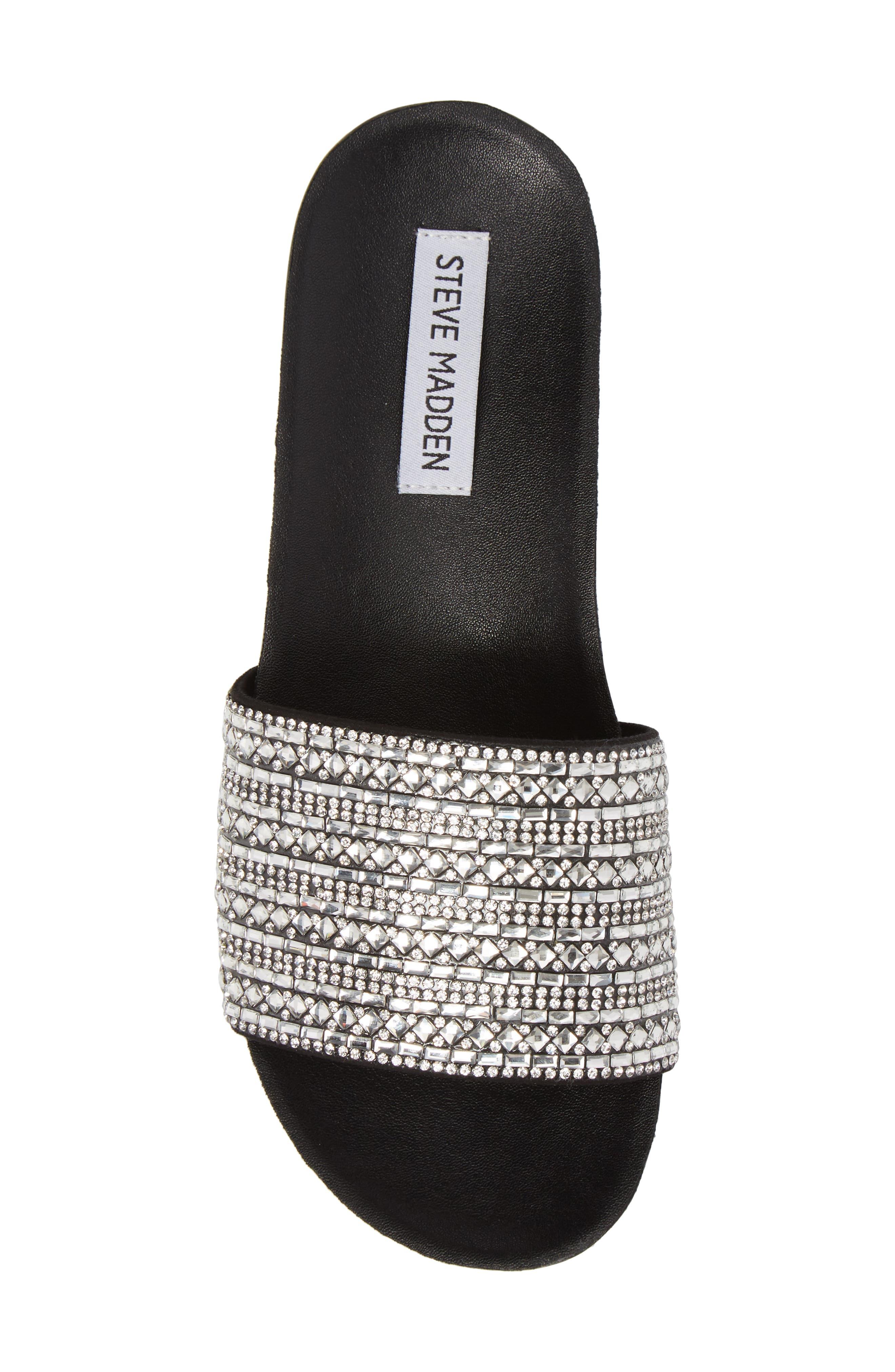 Dazzle Embellished Slide Sandal,                             Alternate thumbnail 5, color,                             015