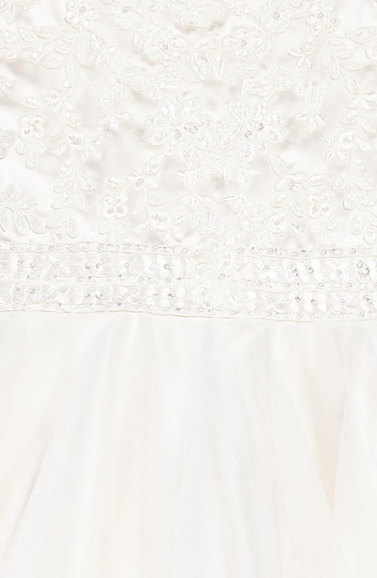 Lace & Tulle Dress,                             Alternate thumbnail 3, color,                             900