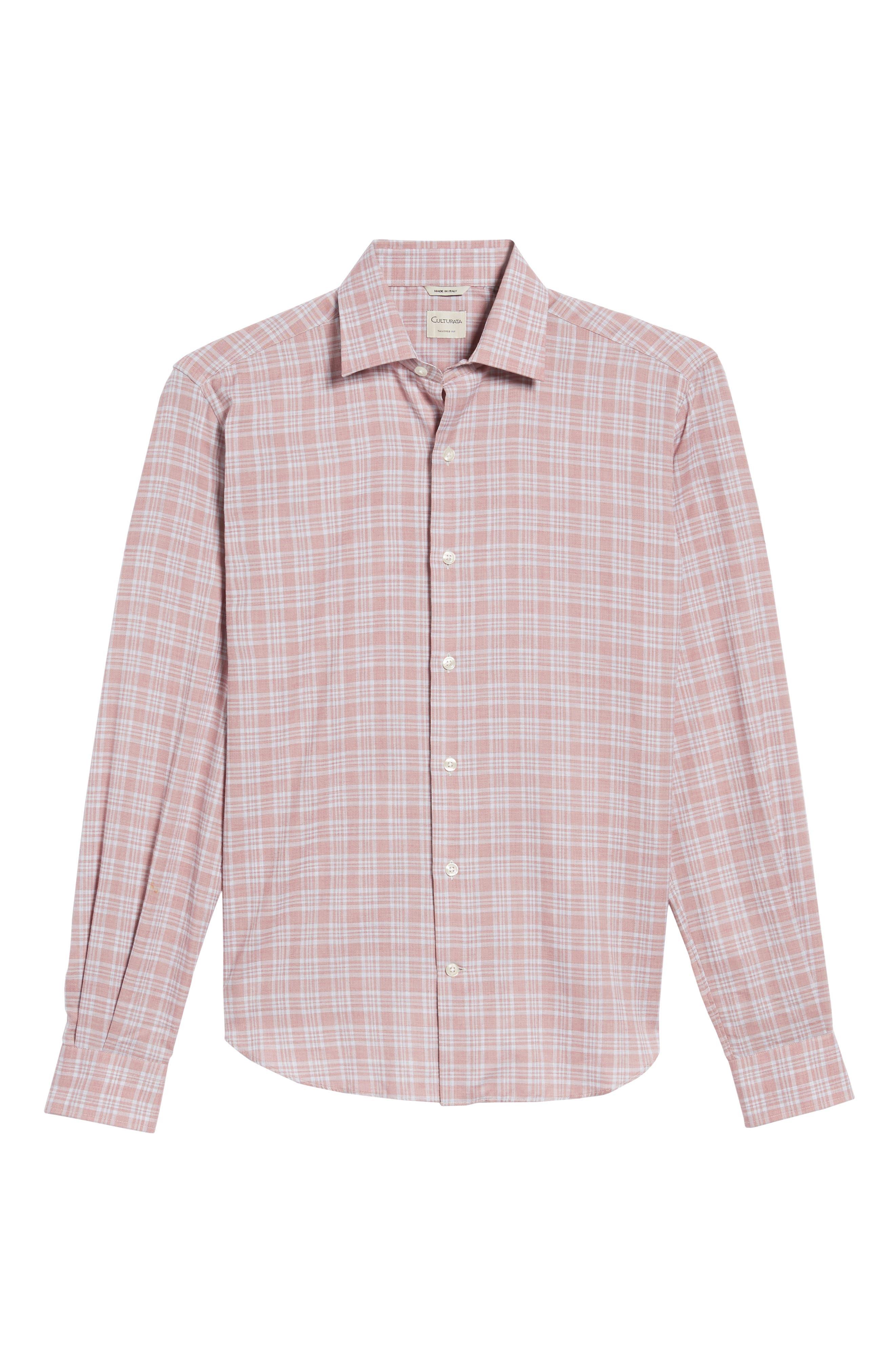Slim Fit Plaid Sport Shirt,                             Alternate thumbnail 6, color,                             650