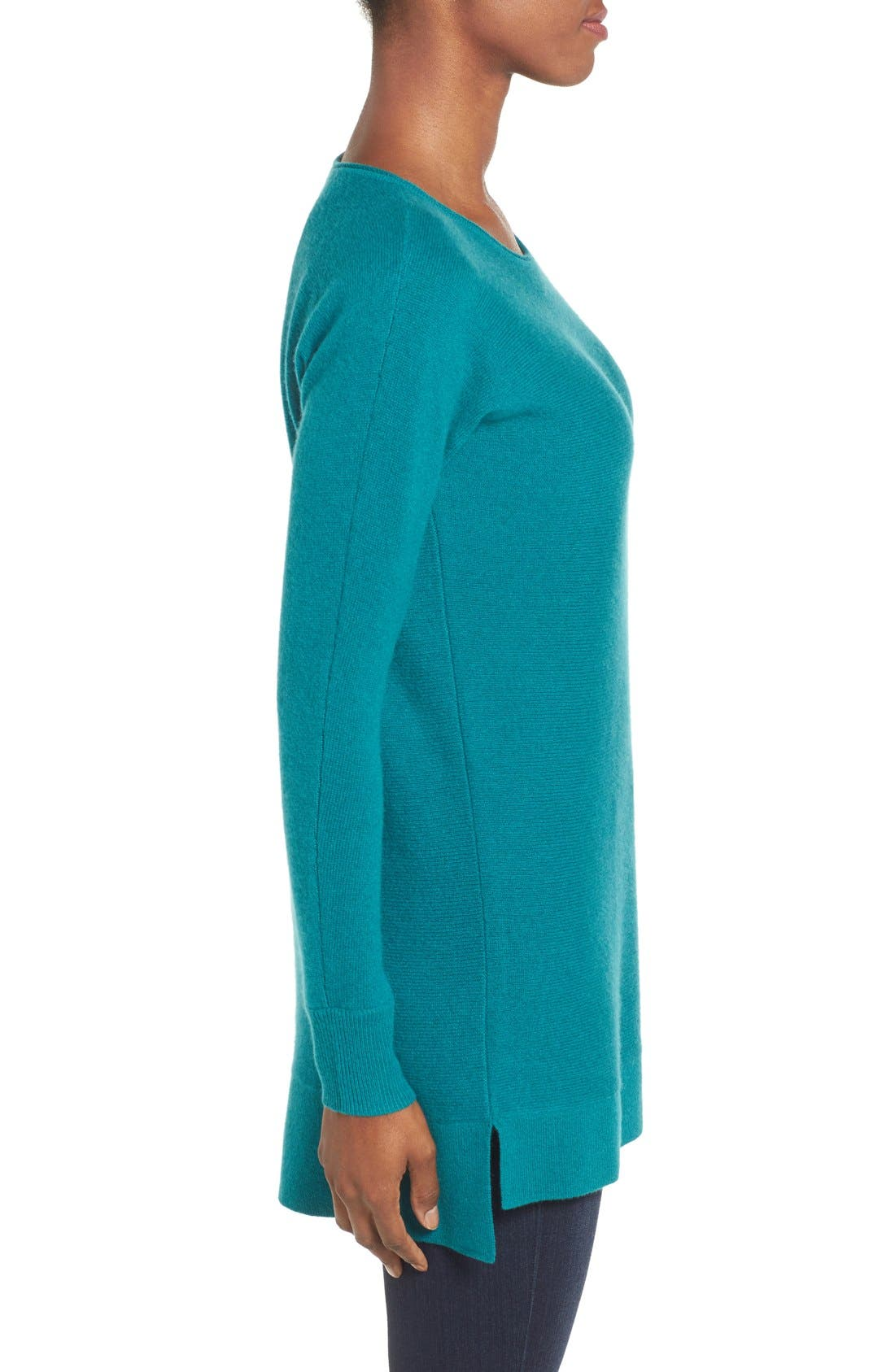 High/Low Wool & Cashmere Tunic Sweater,                             Alternate thumbnail 81, color,