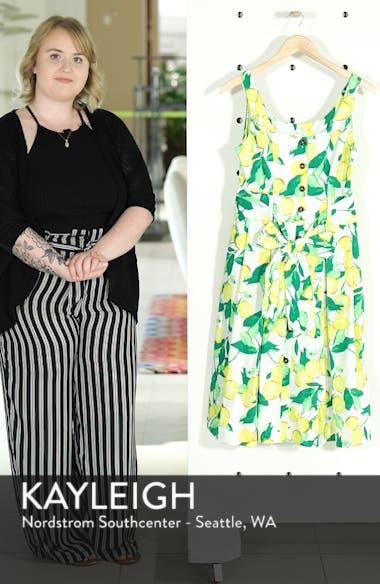 Button Front Lemon Print Dress, sales video thumbnail
