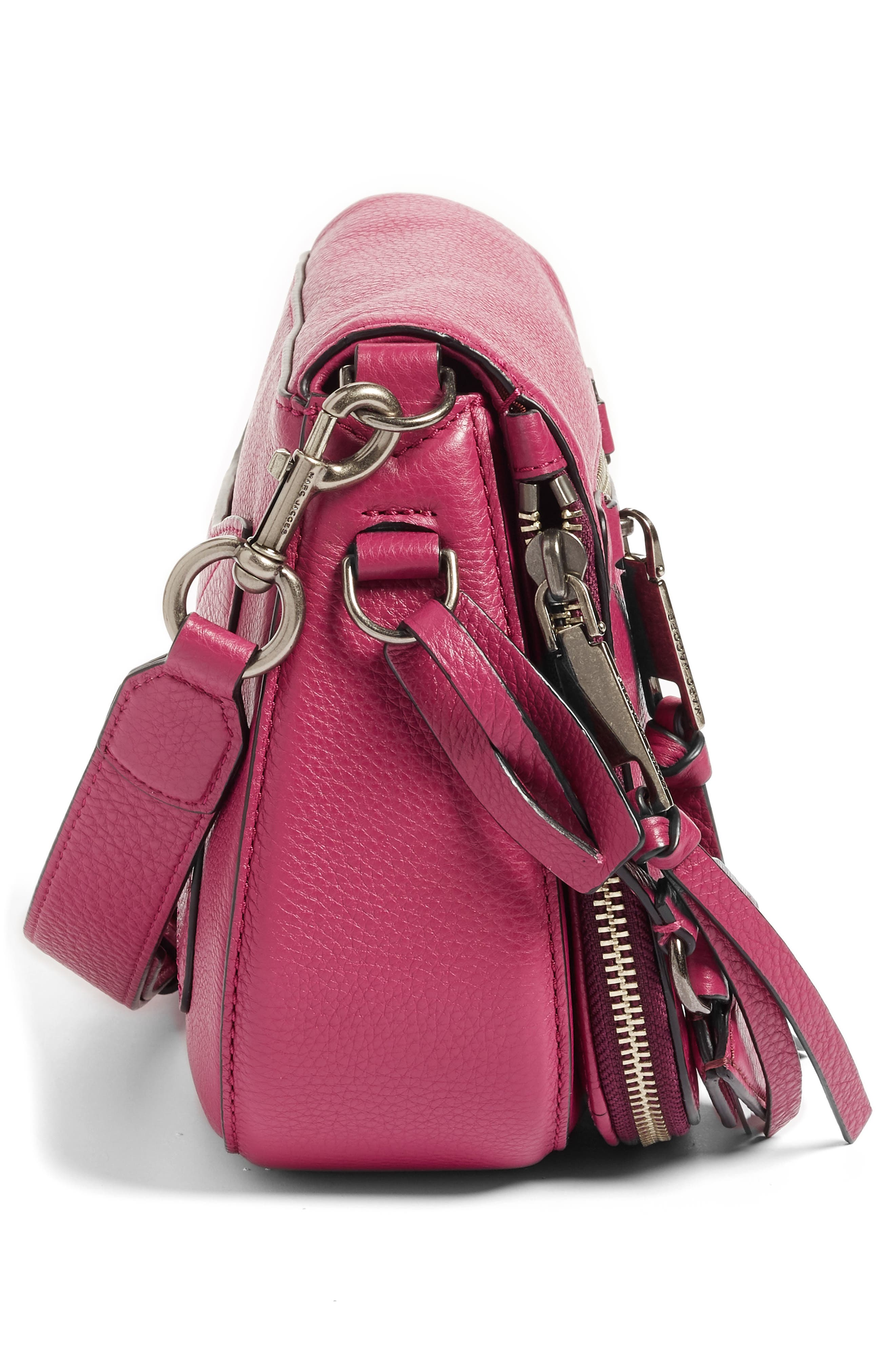 Small Recruit Nomad Pebbled Leather Crossbody Bag,                             Alternate thumbnail 78, color,